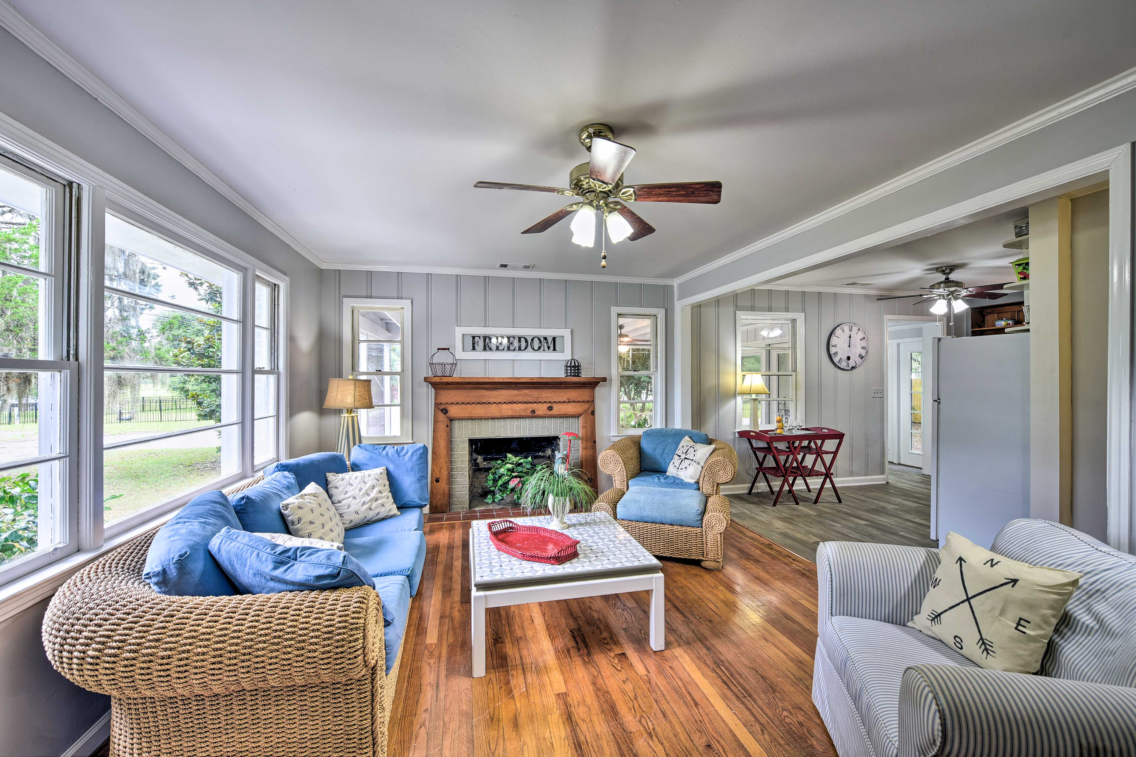 With seating for the whole group, the living room is a great spot to congregate.