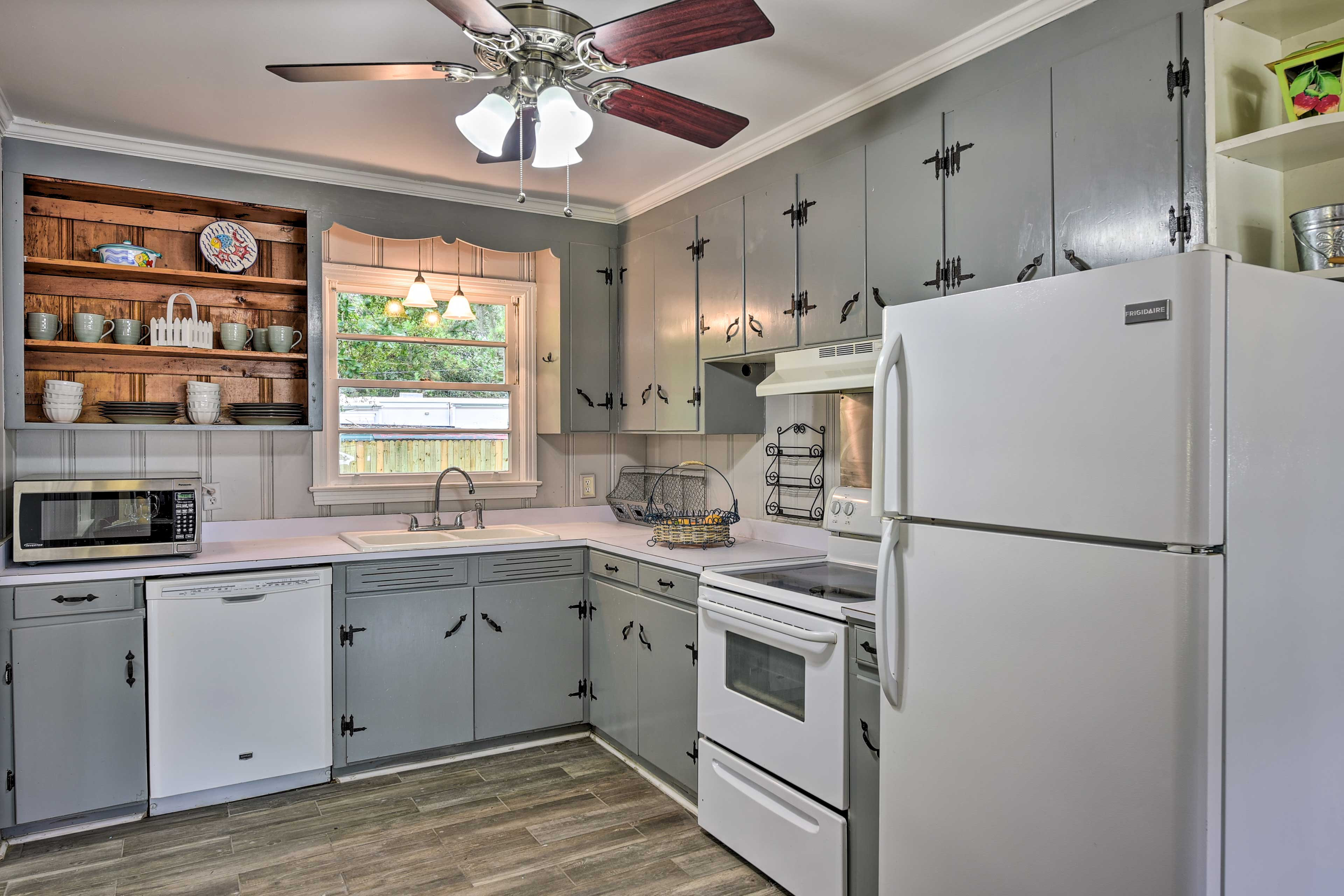 With an open kitchen, there's room for multiple chefs.