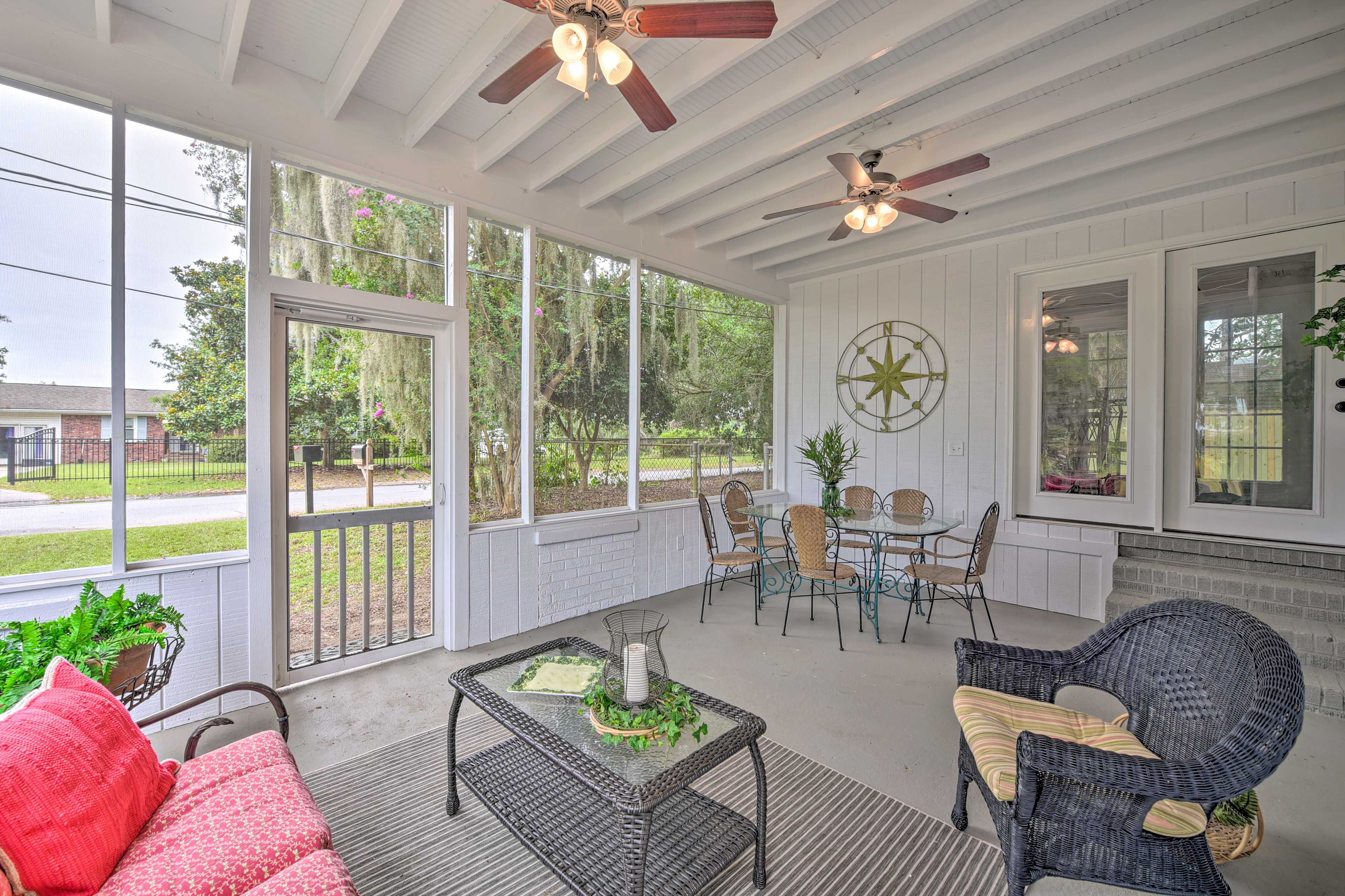 The patio is a great space to entertain.