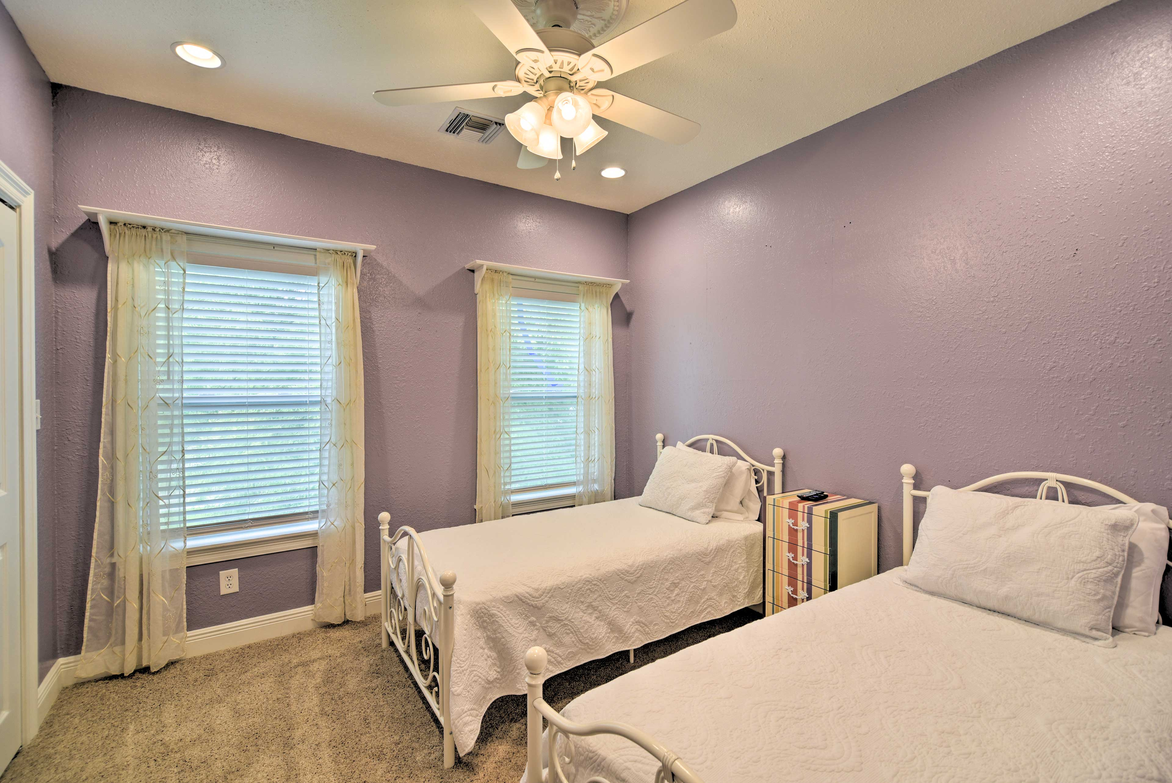 The kids will love the twin beds in the second bedroom.