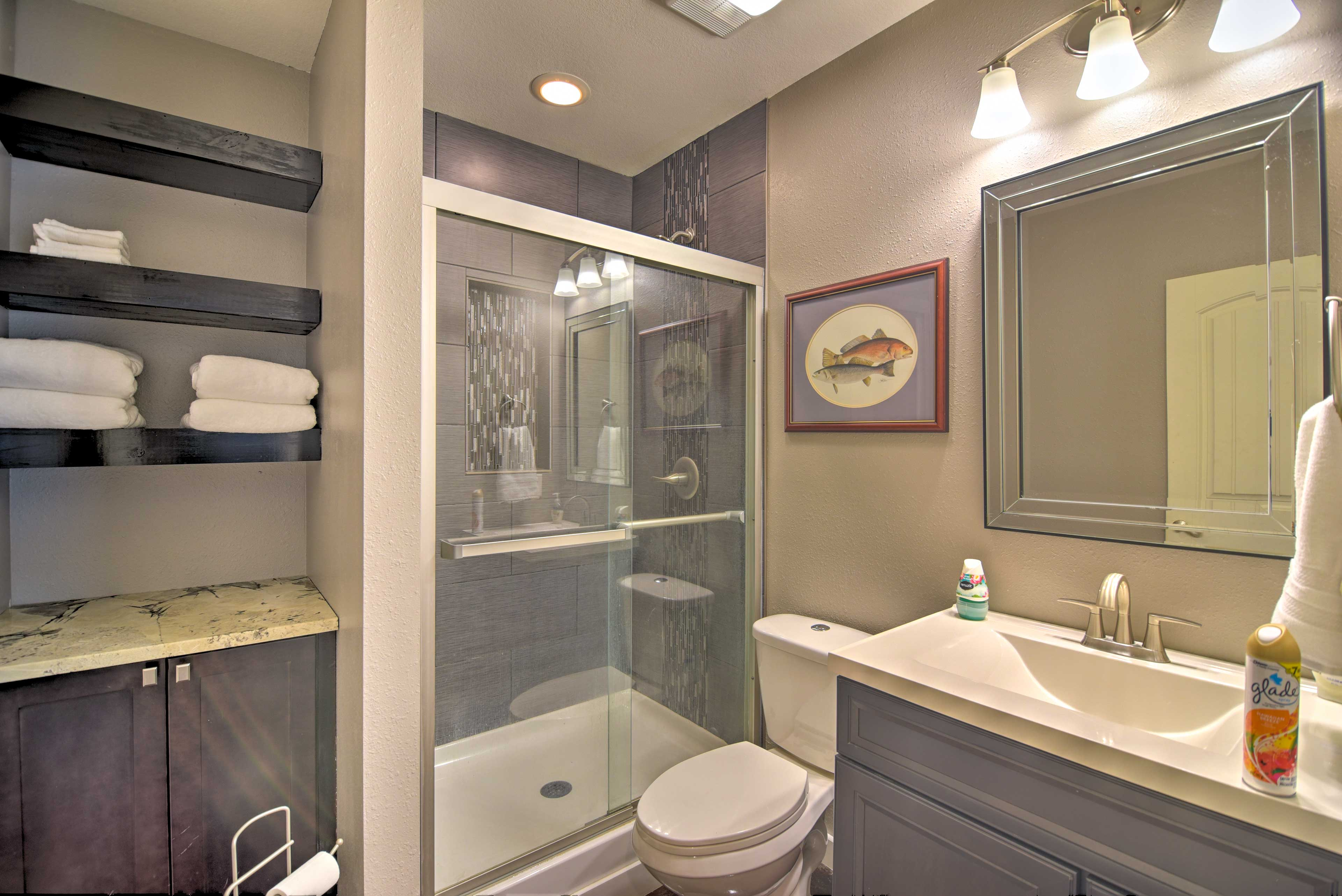 Fresh towels are provided for your stay!