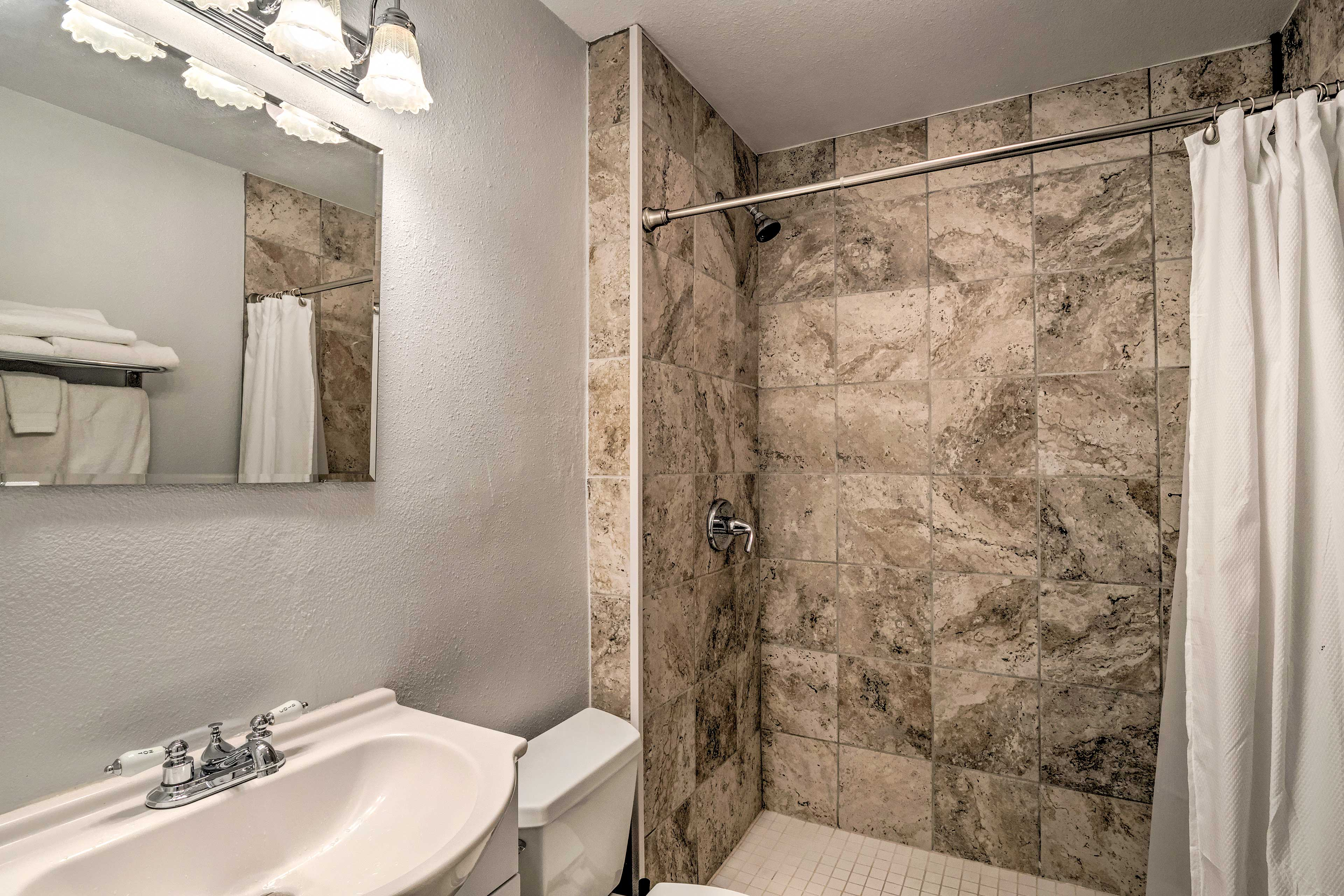 The en-suite bathroom will suit all your needs!
