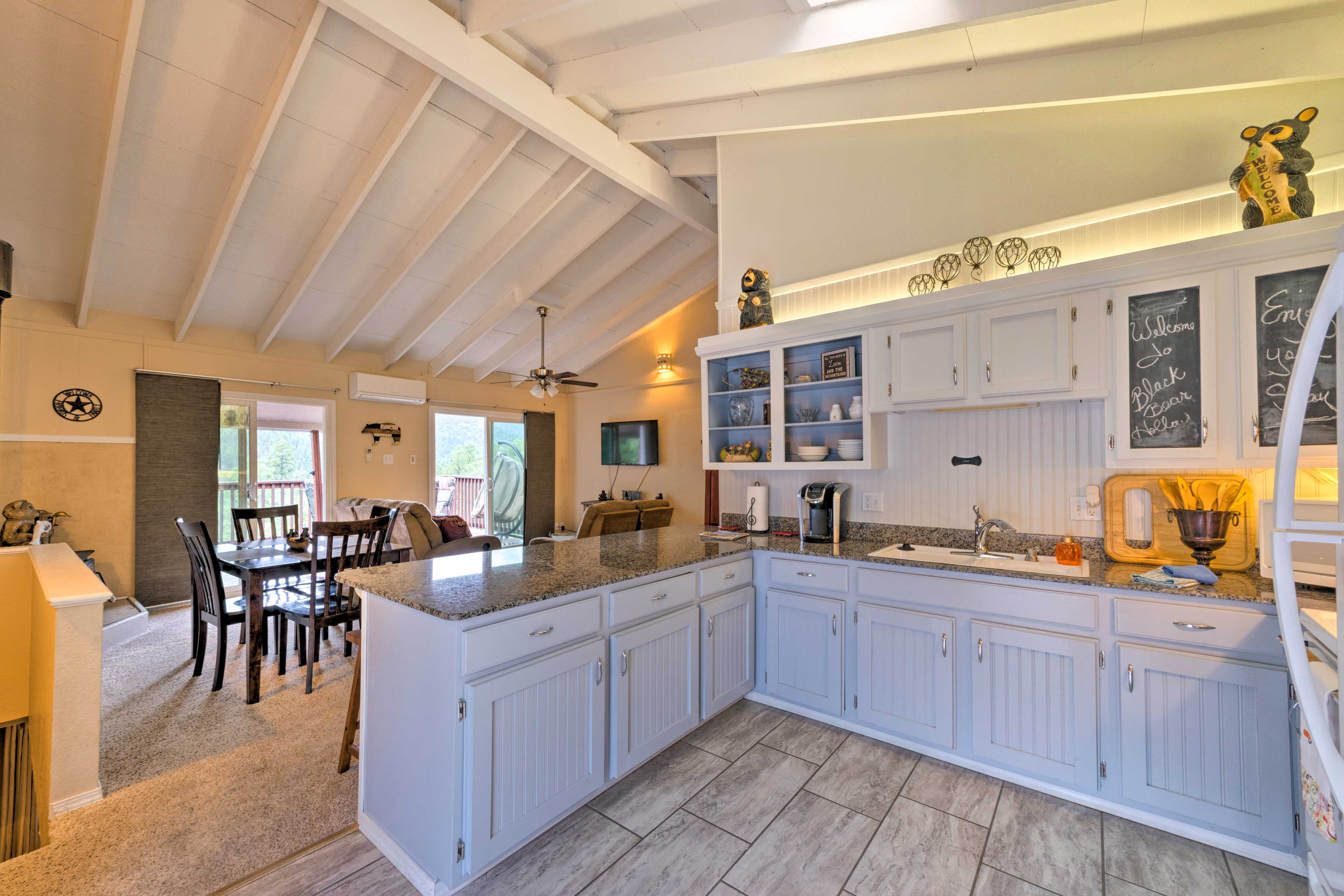 Feel at home in the bright kitchen.