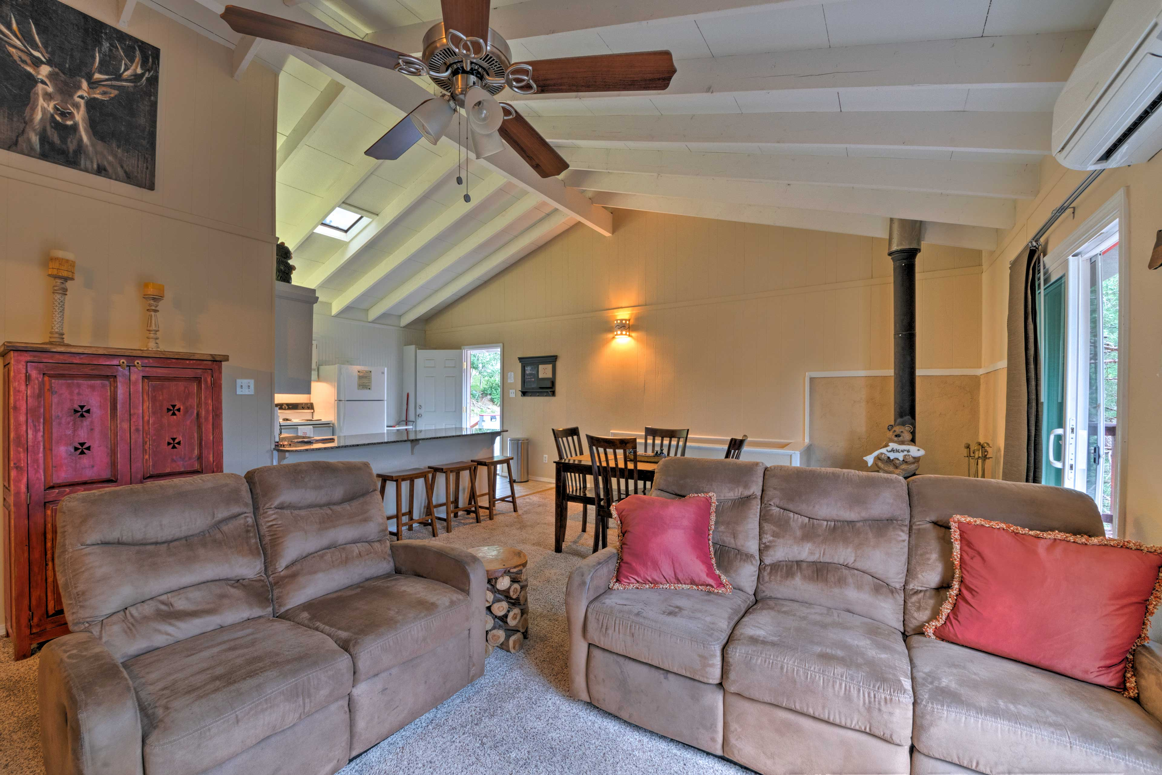 Spend quality time in the inviting living area.