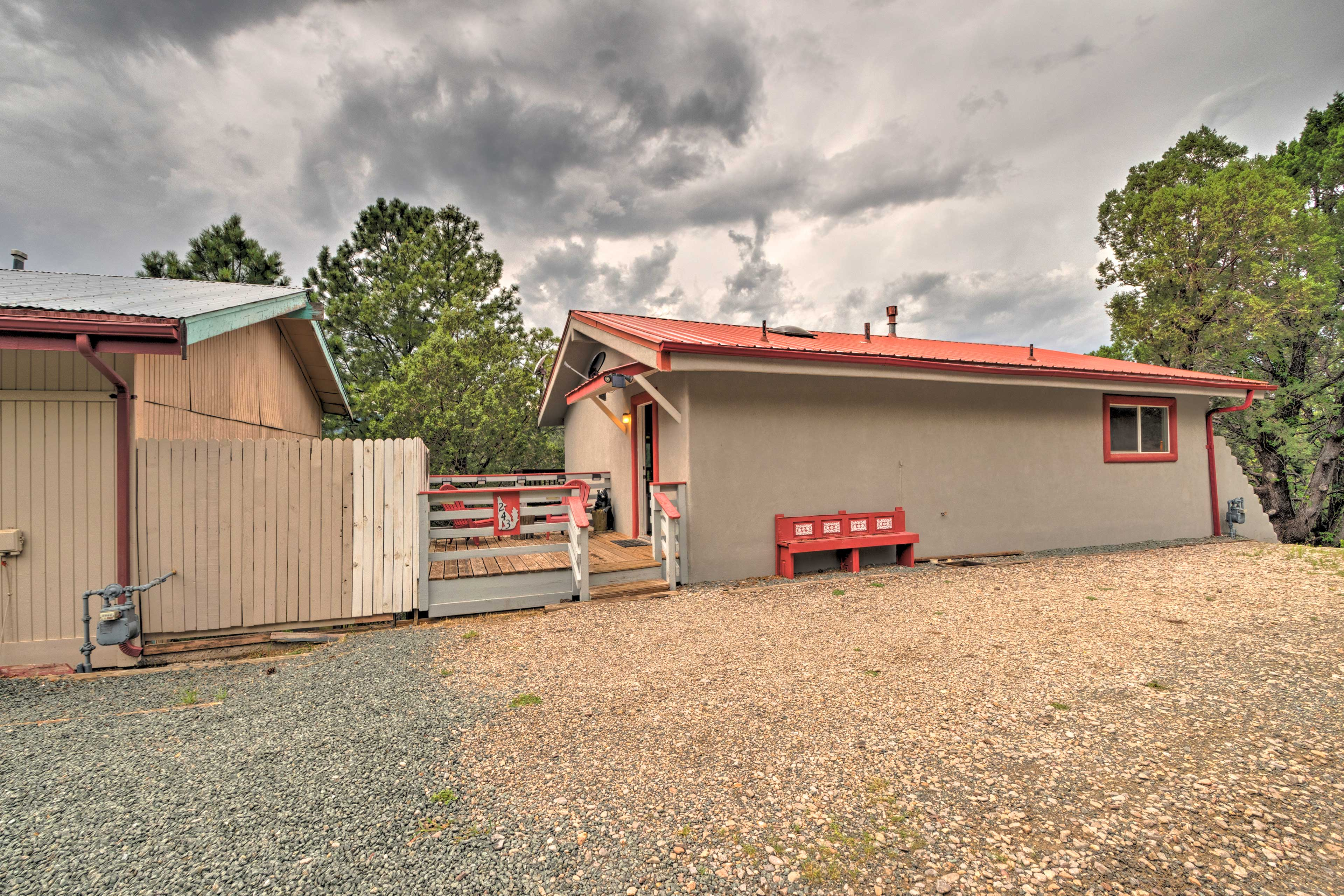 Explore Ruidoso during your stay at this charming cabin.