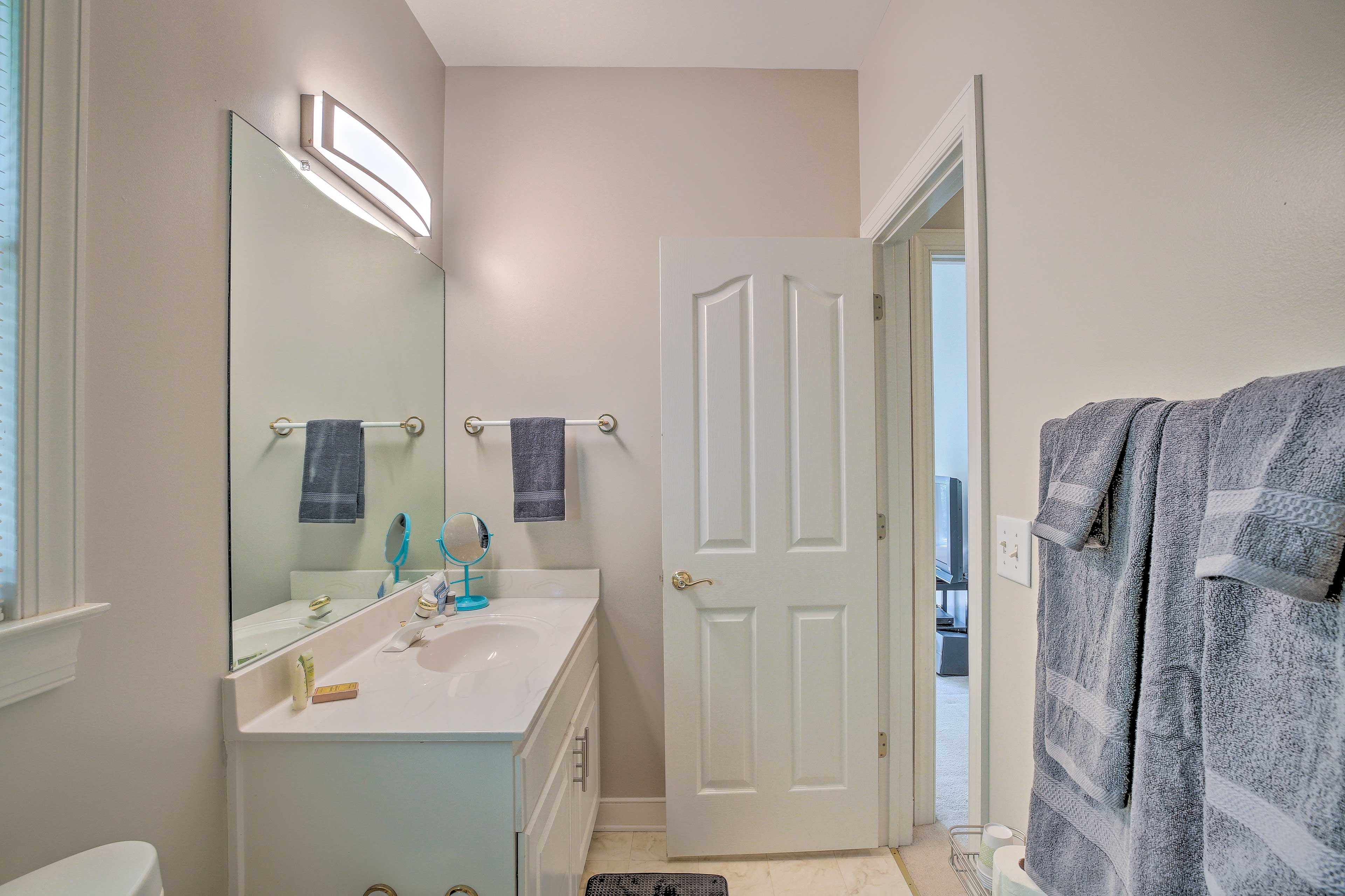 Provided towels add convenience to your stay.
