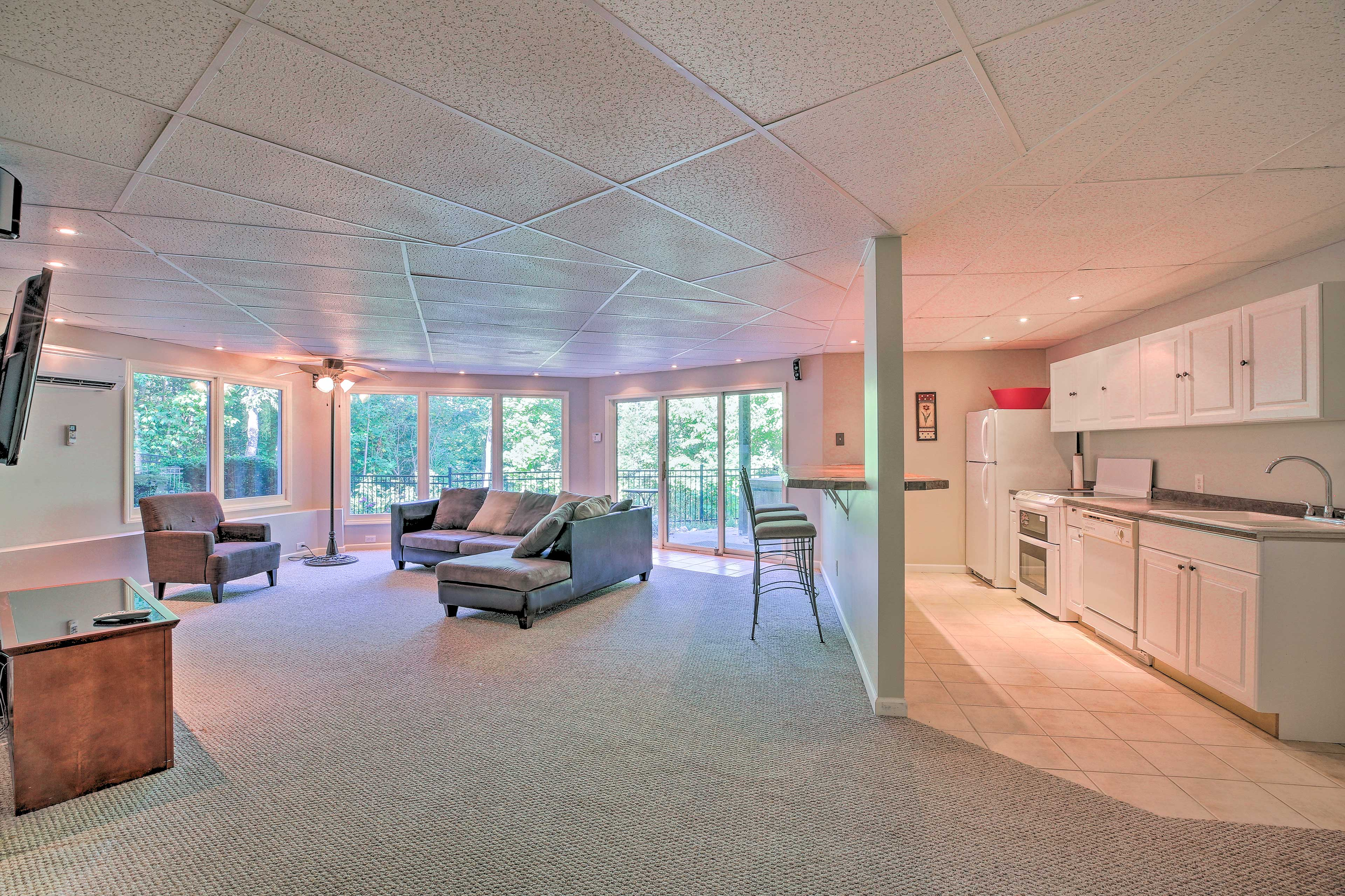 The theater room features a second fully equipped kitchen.
