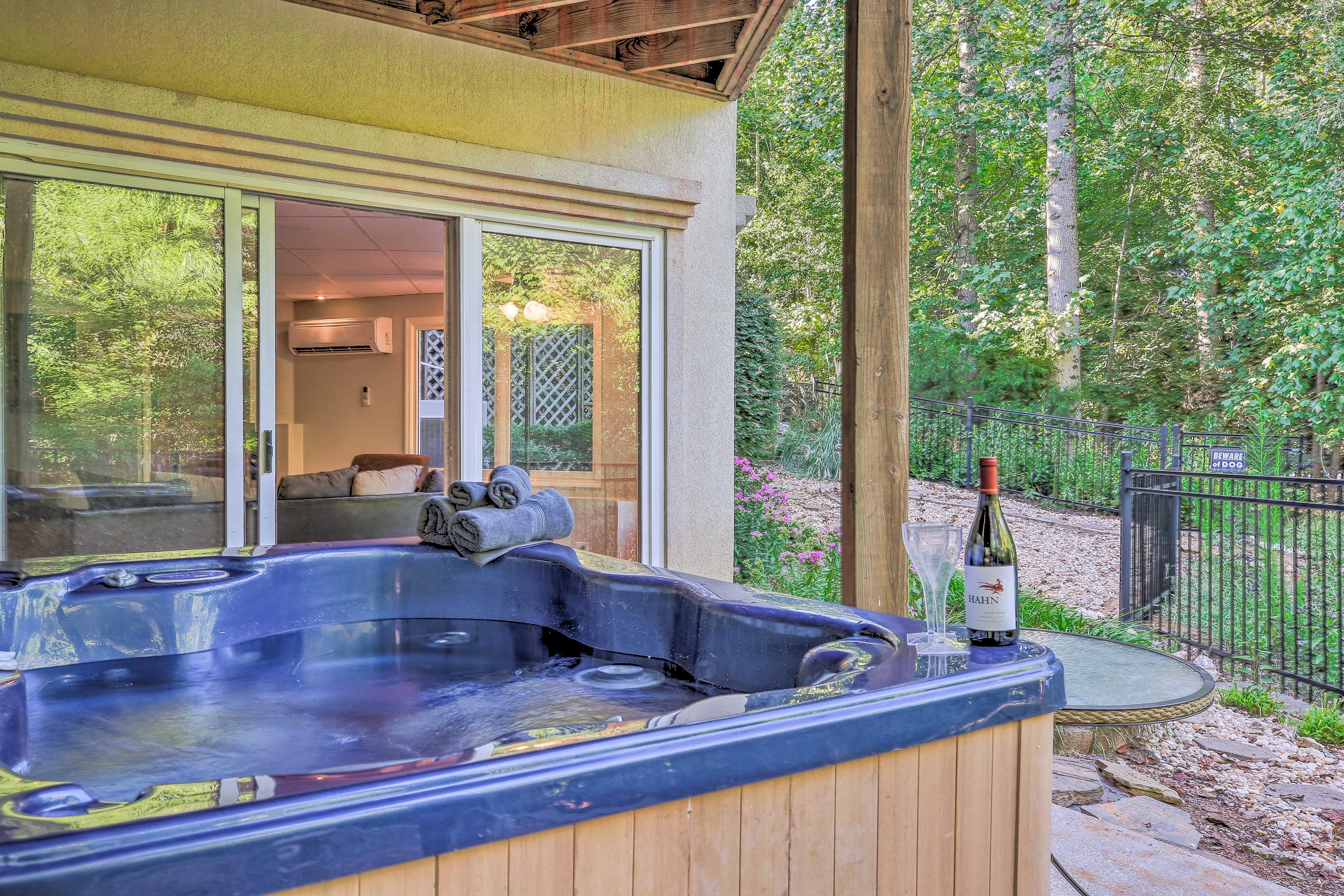 Soak into vacation mode as soon as you arrive at this Gainesville rental home.