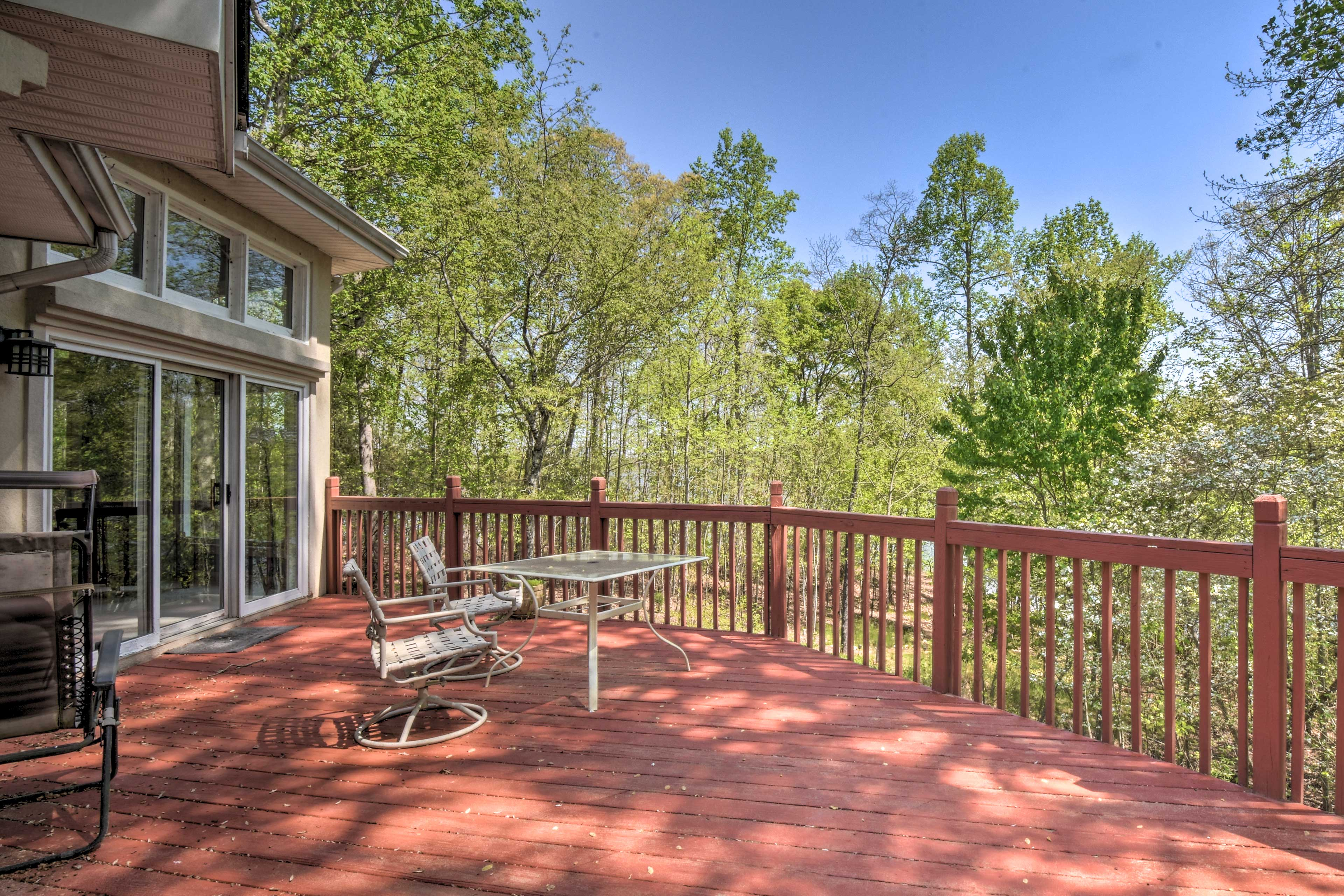 Soak up the sun's rays from the expansive deck.