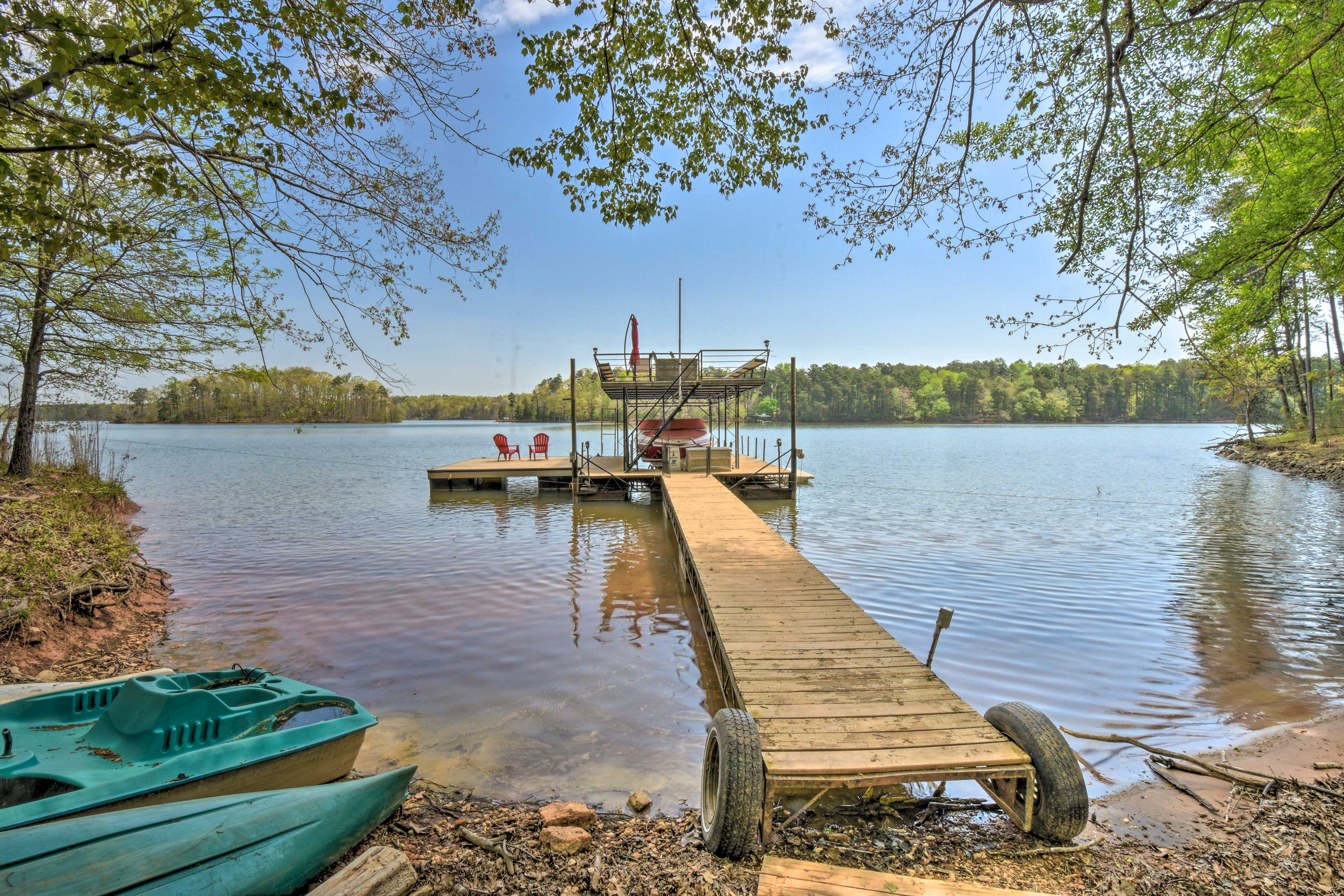 Take the boat out for a cruise or stay behind on the top level of the dock.