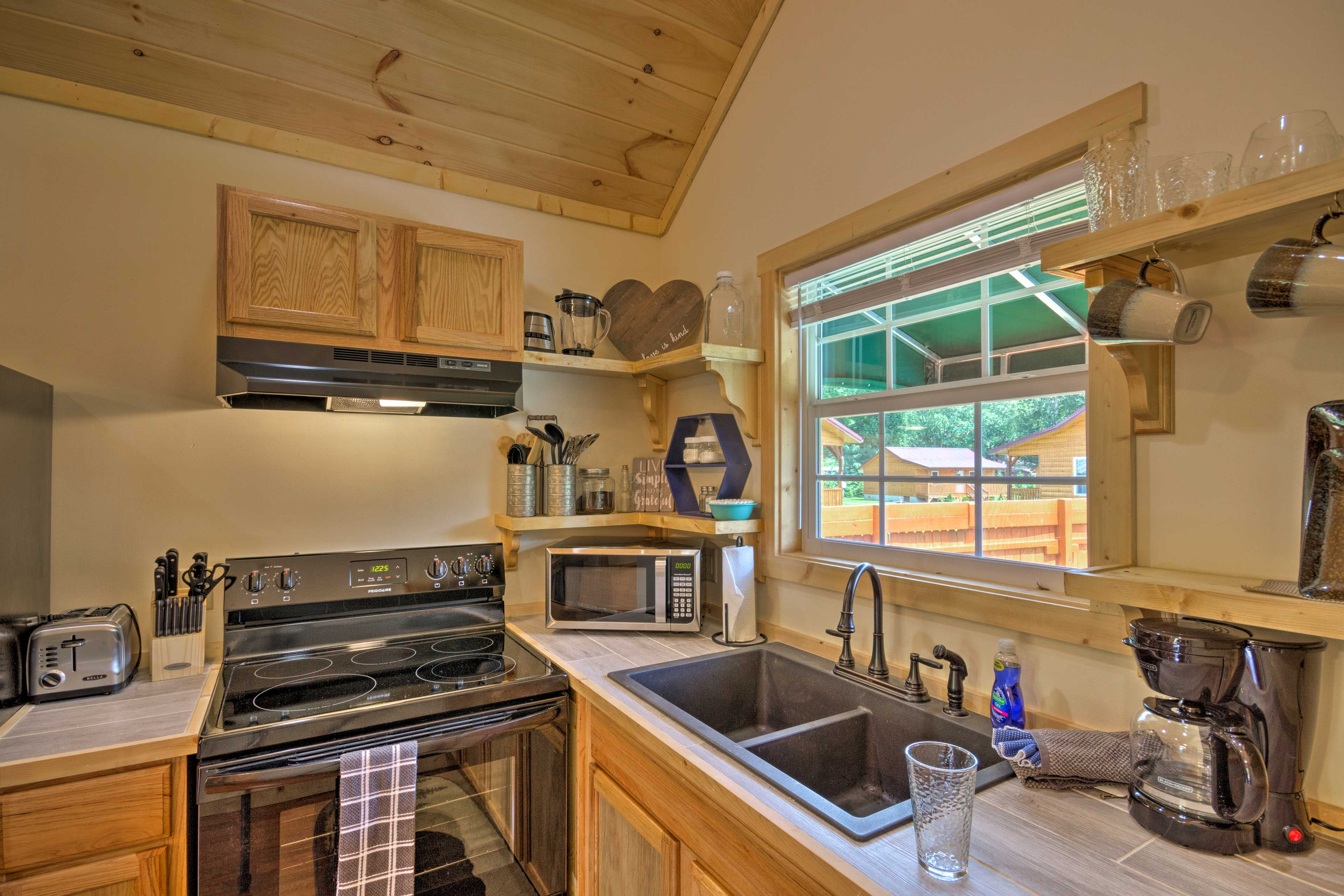 Channel your inner Iron Chef in the fully equipped kitchen.