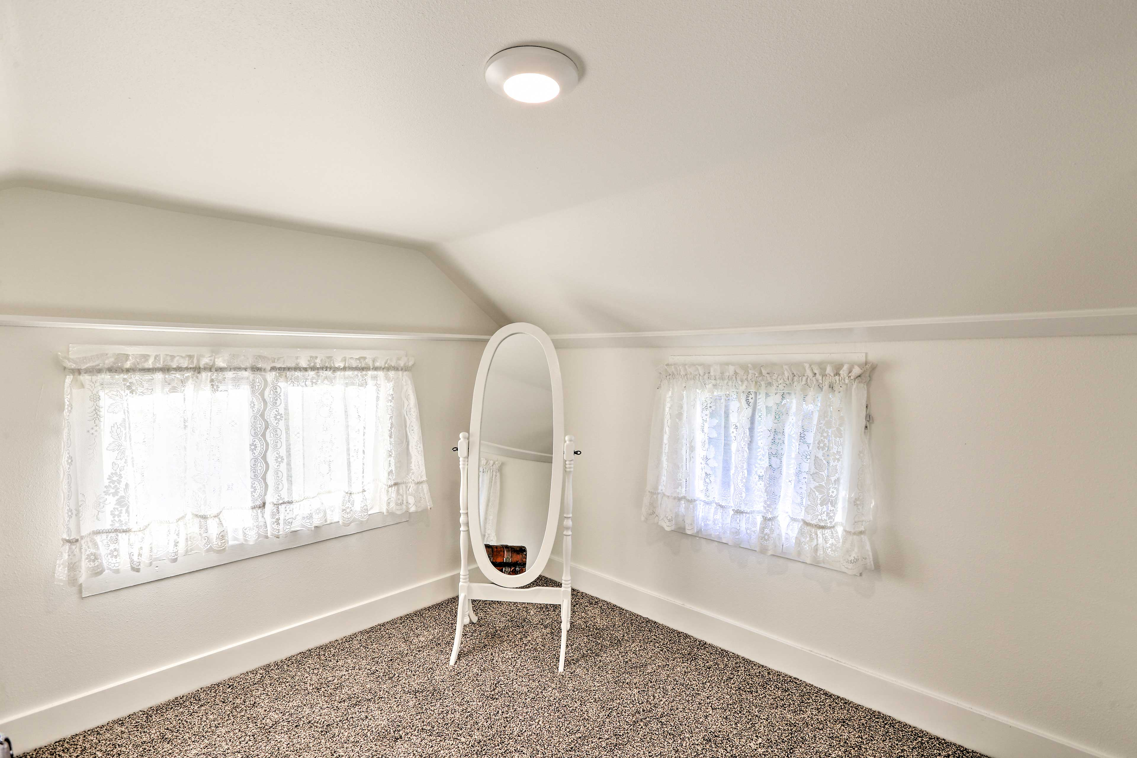 The large walk-in closet allows you to prep for the day with ease.