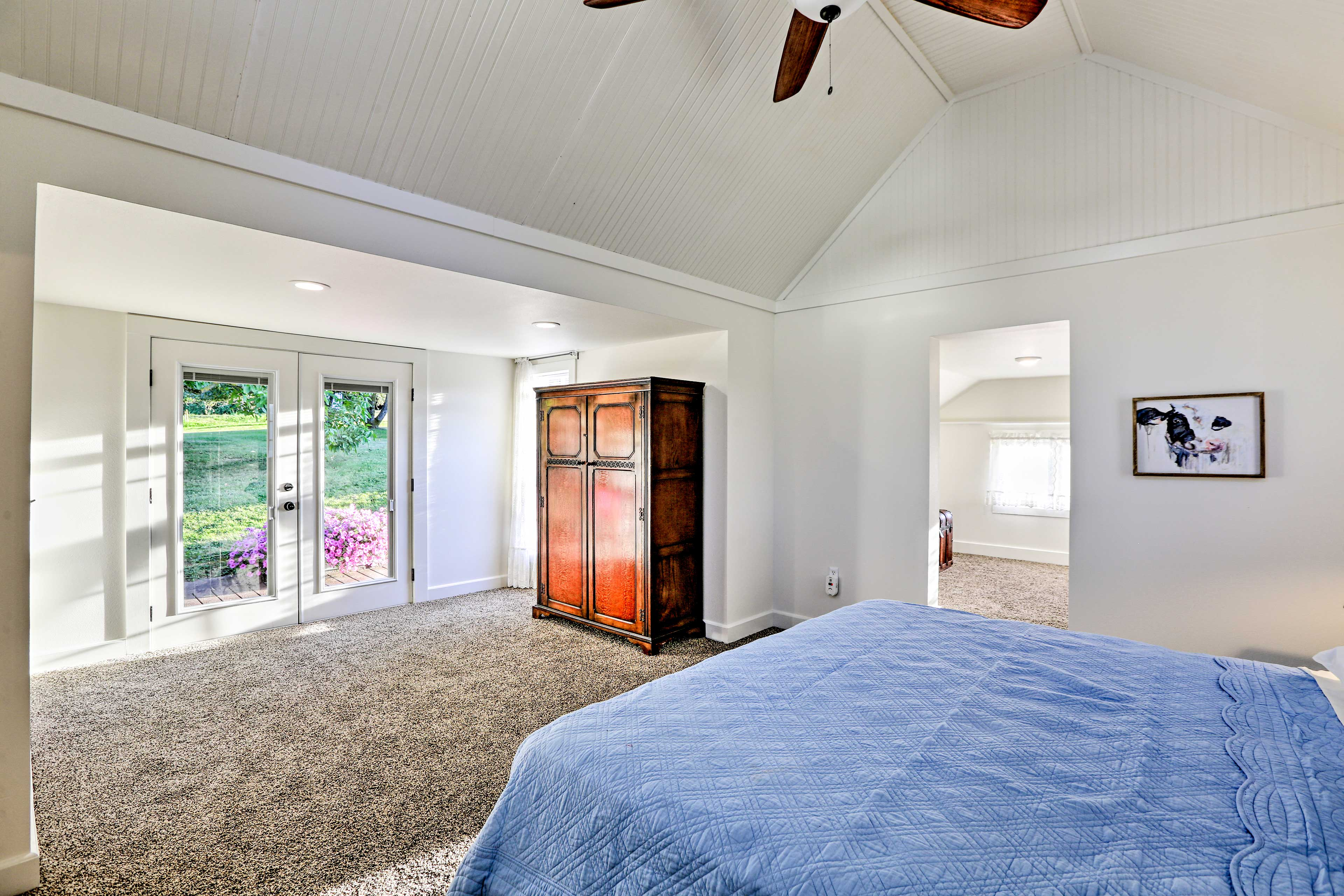 Step right out to the deck from the master suite.