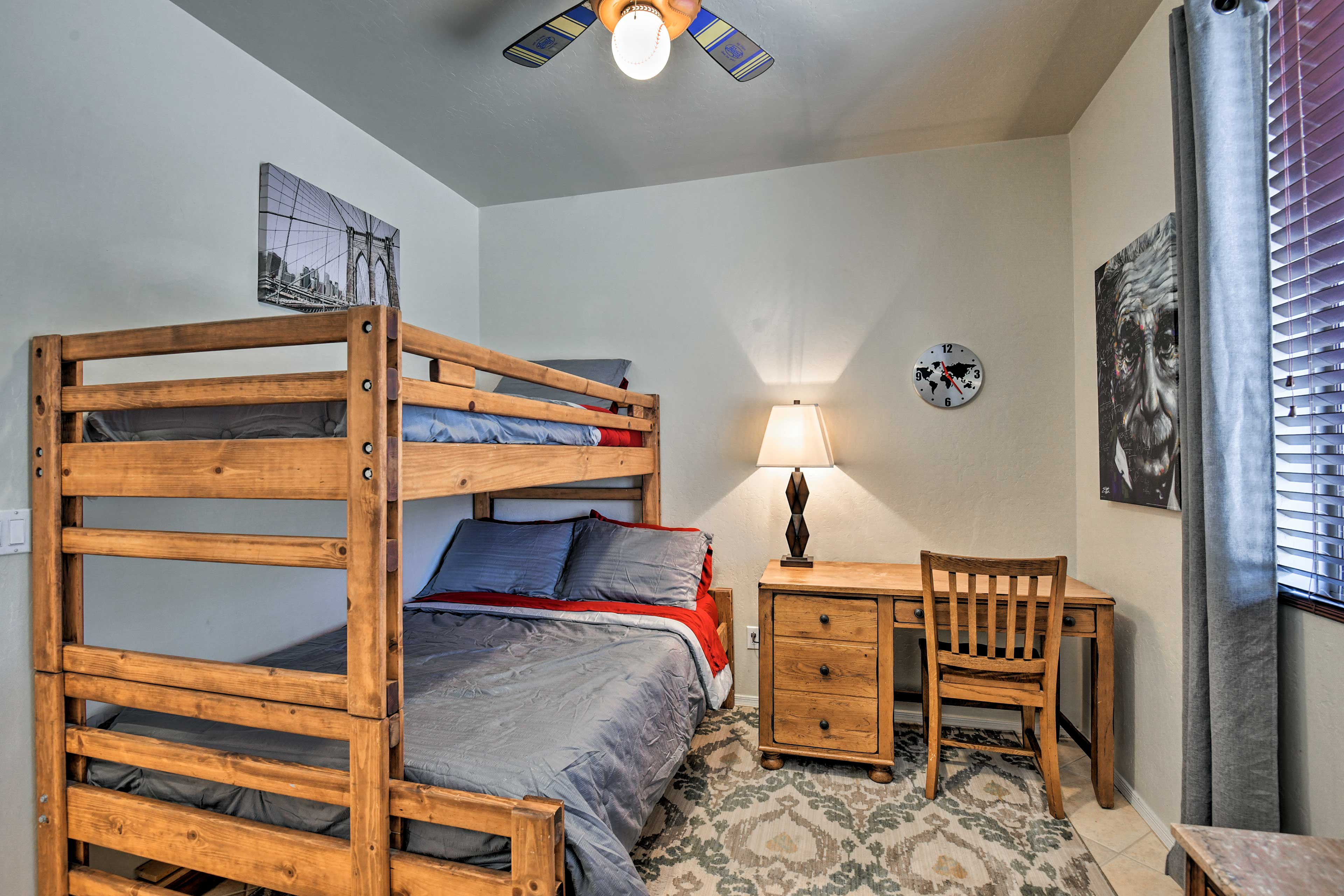 This room is perfect for sharing with a twin/full bunk bed.