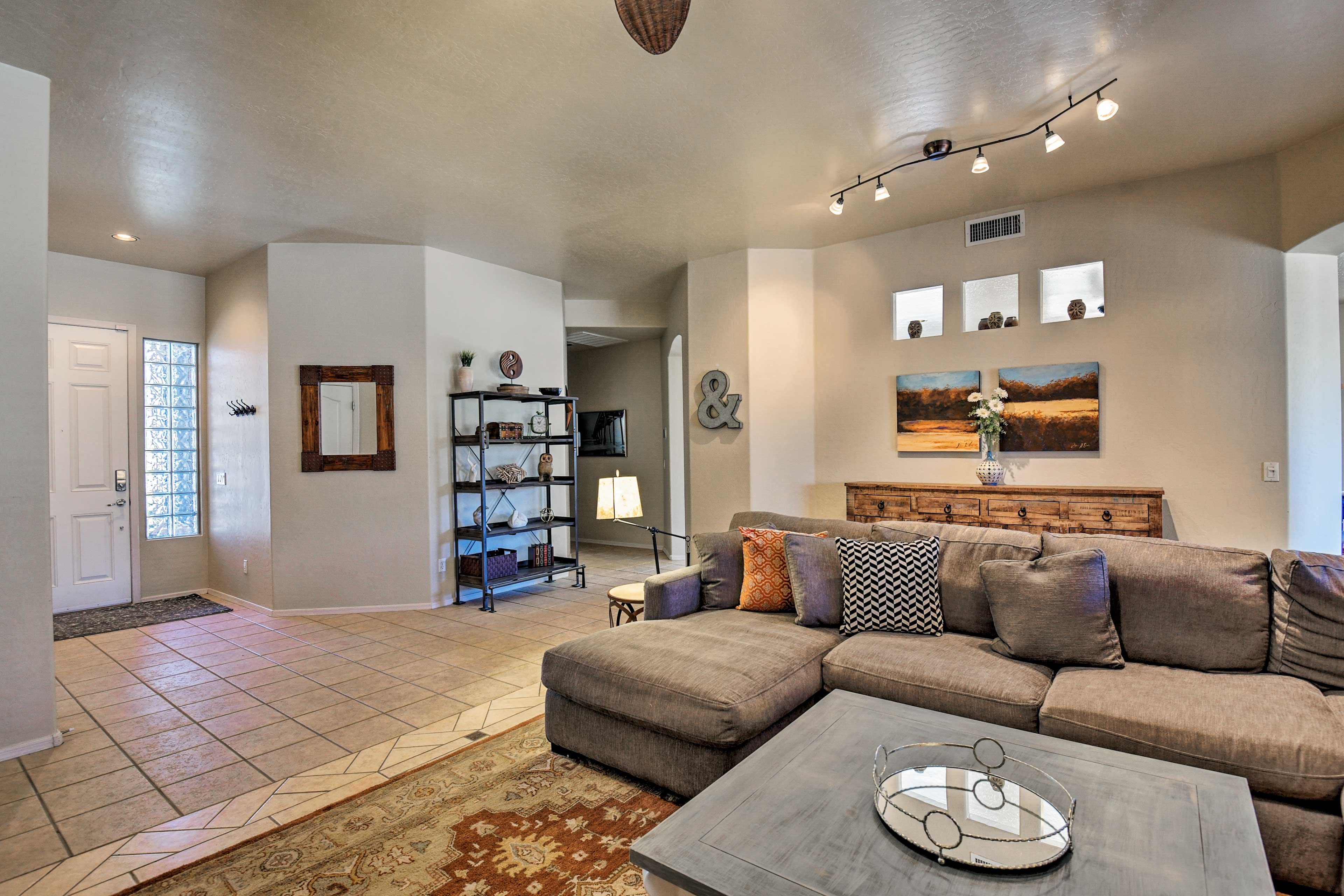 The interior features decor that makes the place feel homey and inviting.