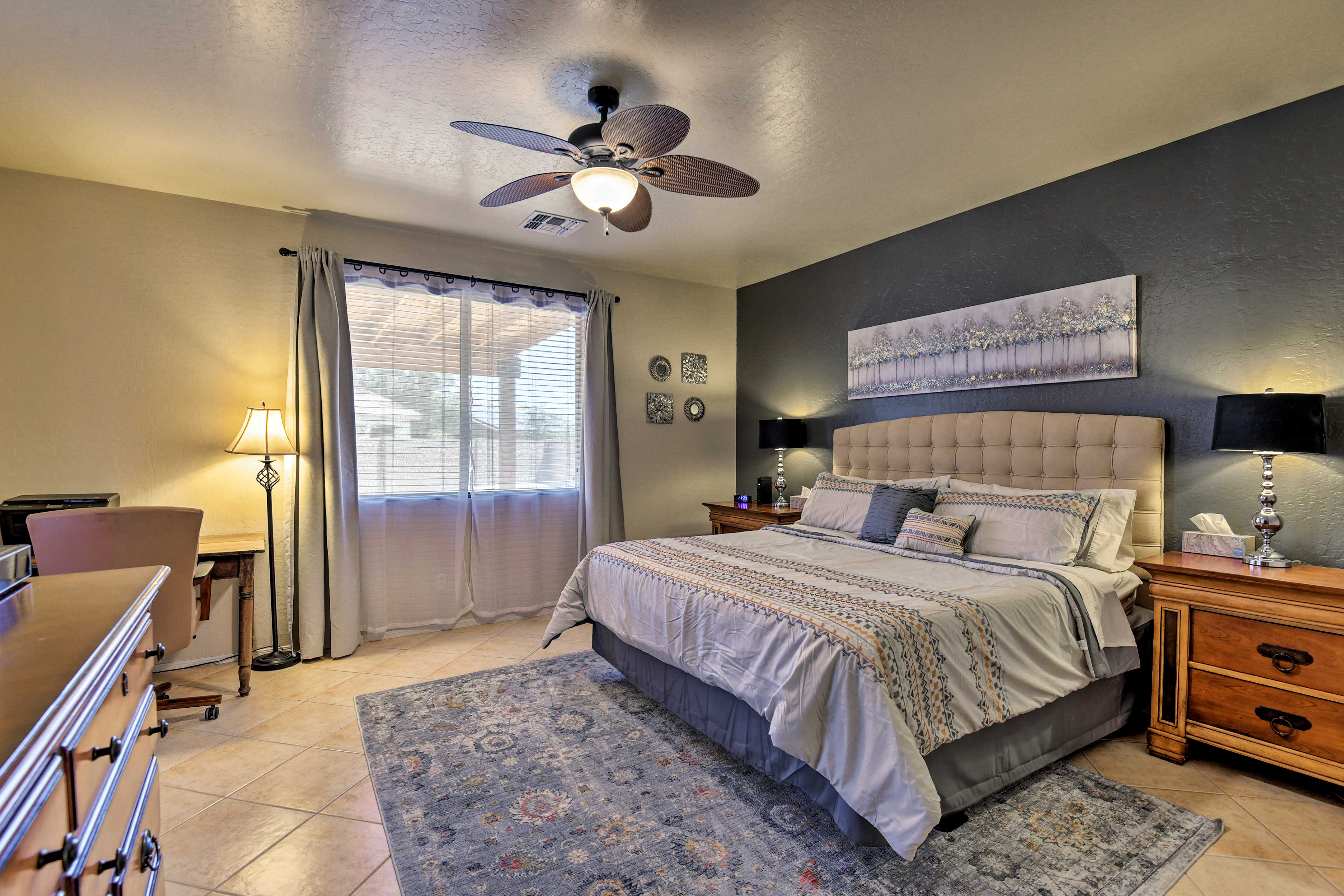 Come bedtime, take solace in one of the 4 bedrooms.