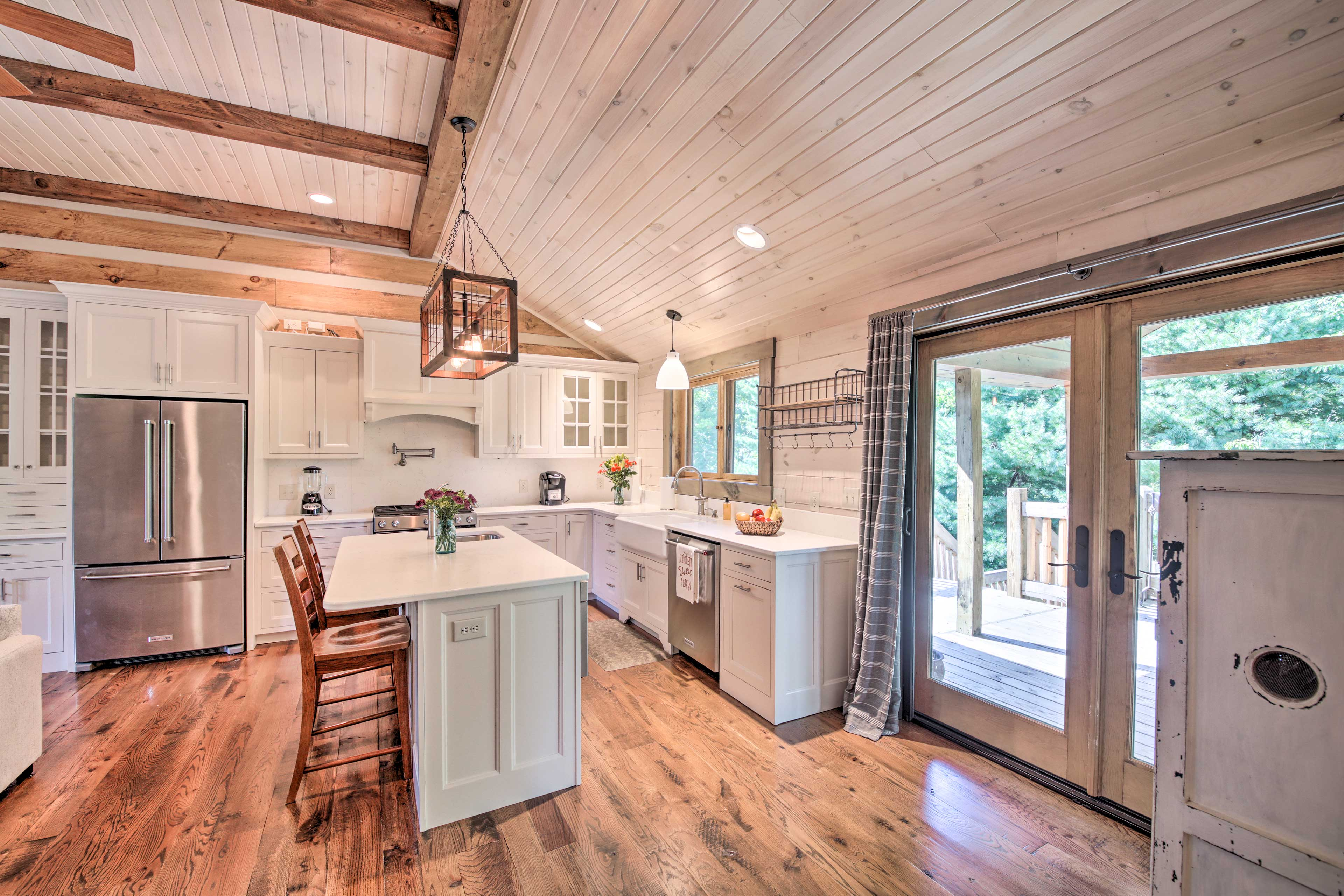 You'll find hardwood flooring throughout.