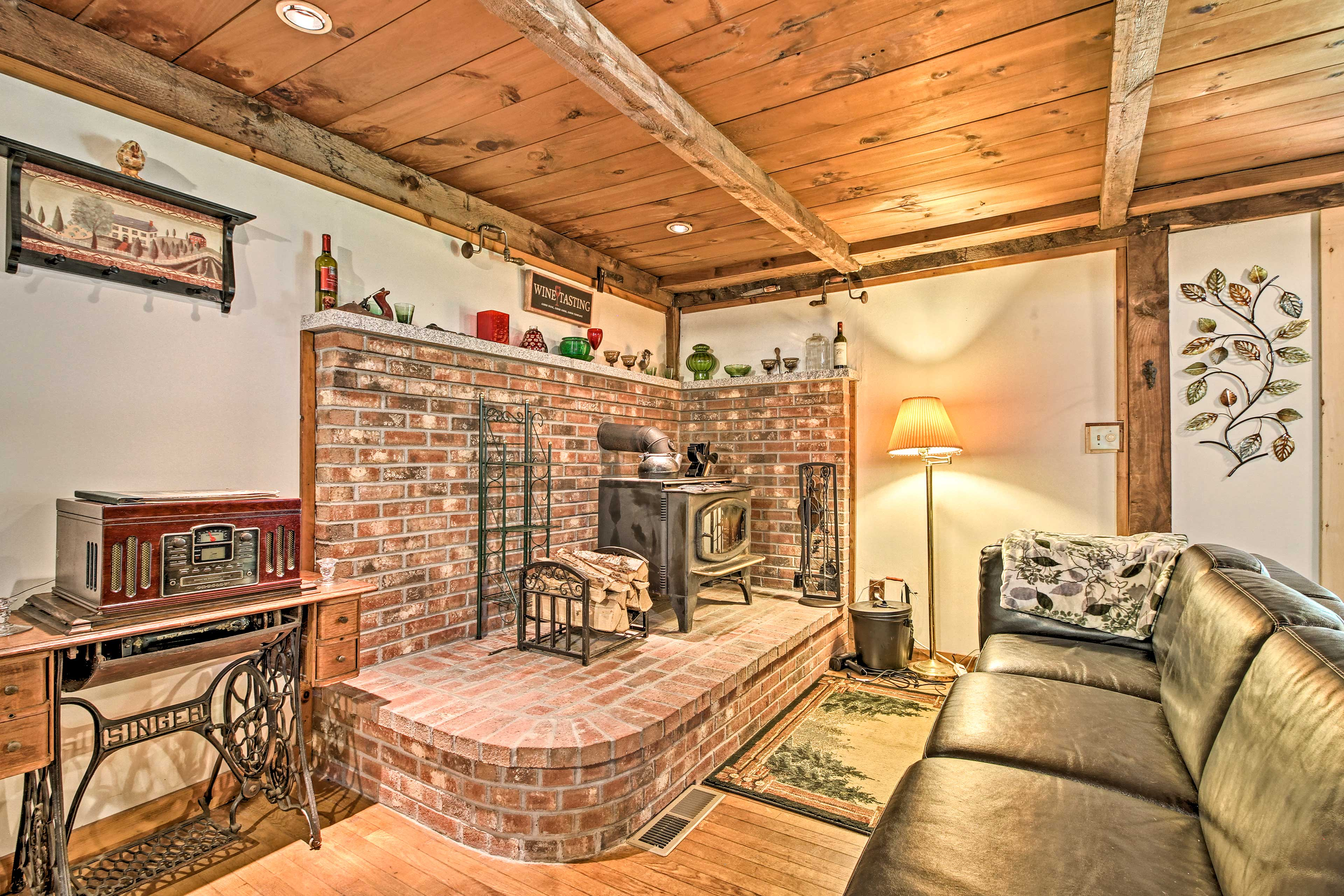 Reconnect with loved ones when you stay at this 2-bedroom, 1.5-bath home.