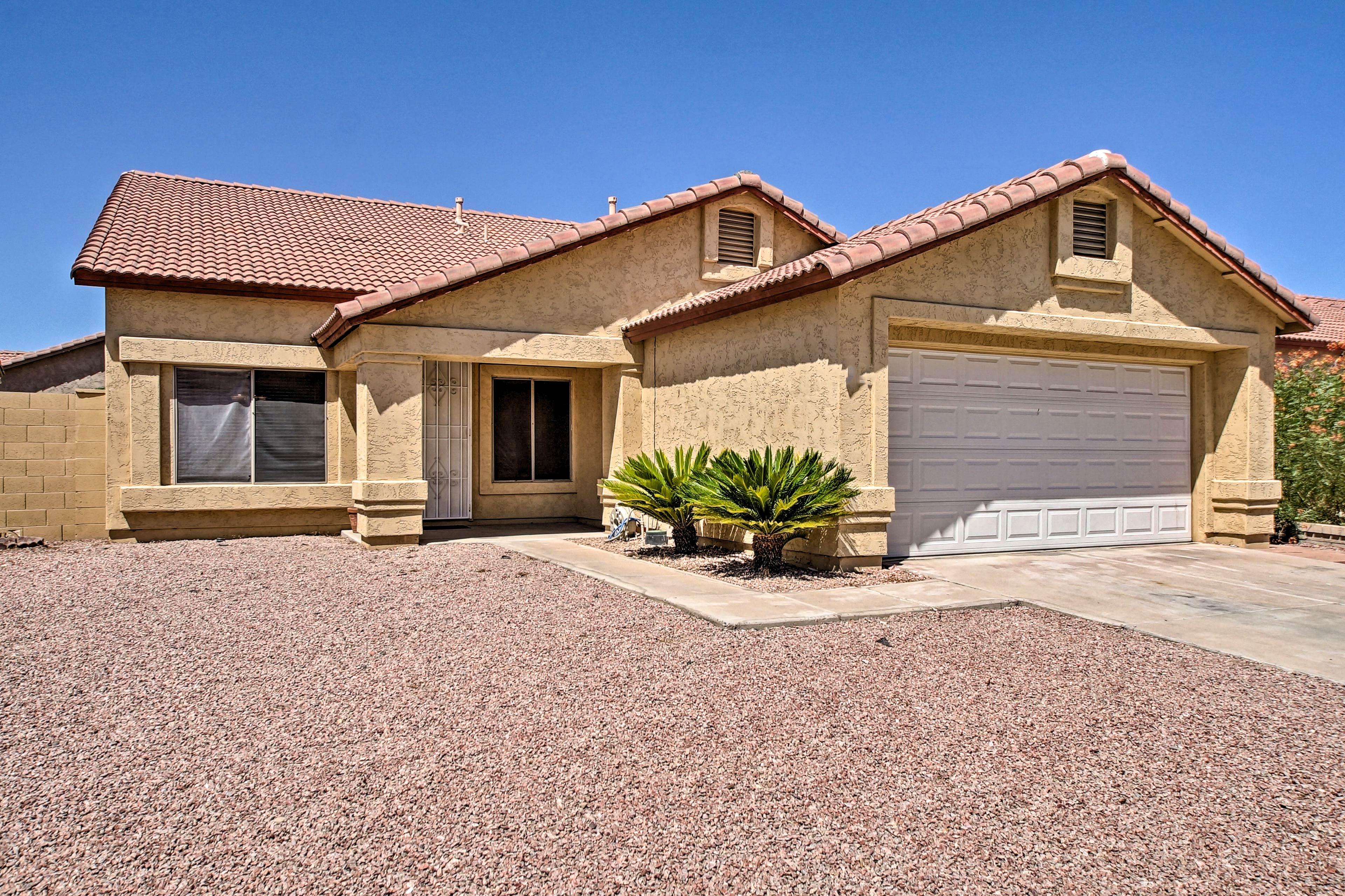 Book your Glendale getaway to this spacious 4-bedroom, 2-bathroom desert abode!
