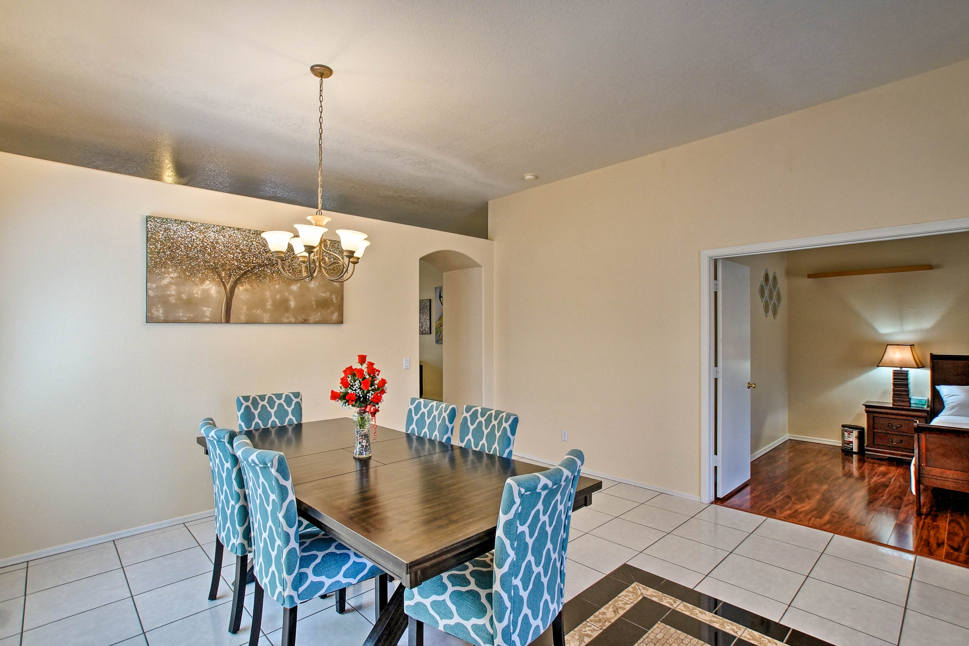 There is also an additional dining room for family-style feasts.