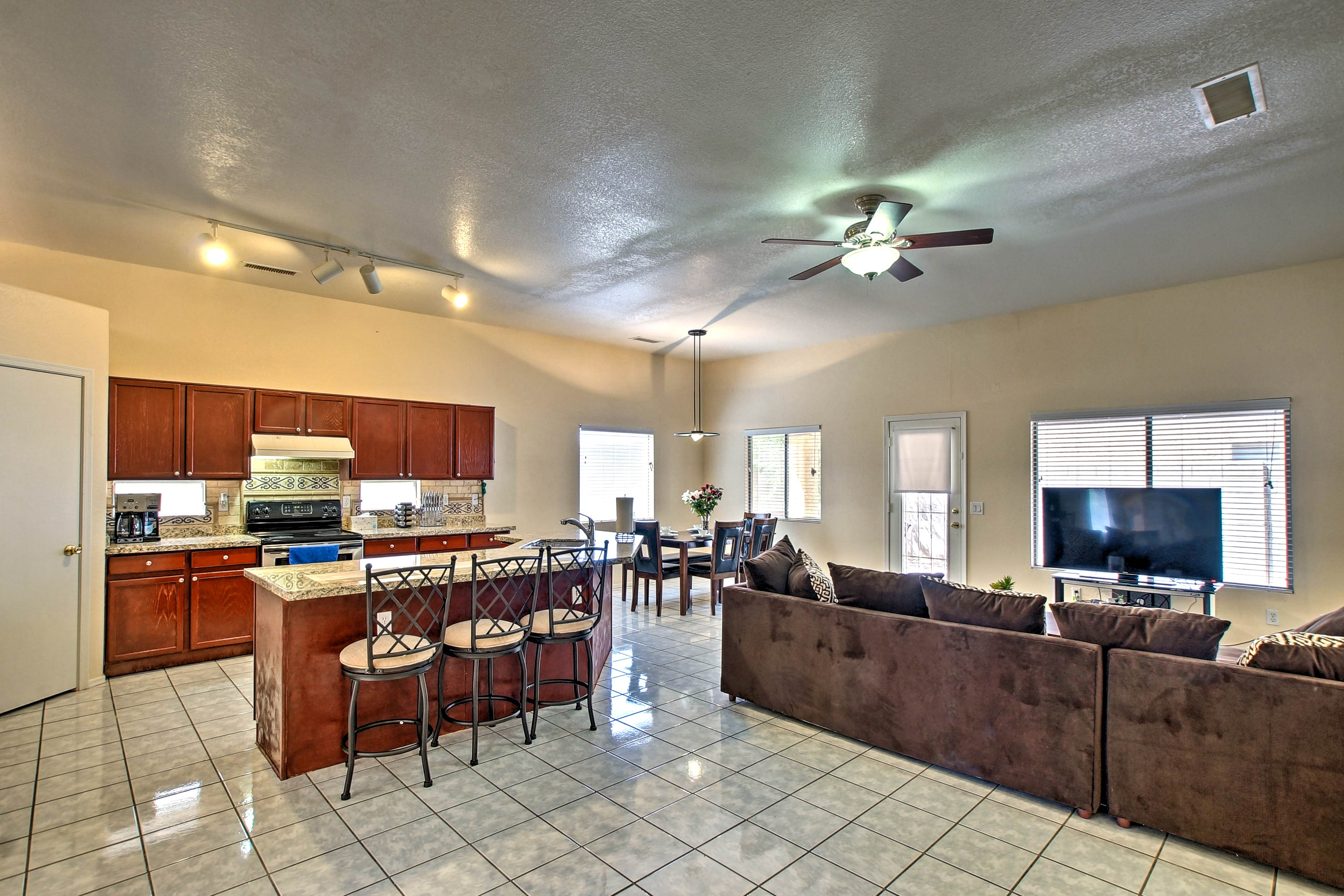 The living room has everything you need for your Phoenix-area escape.