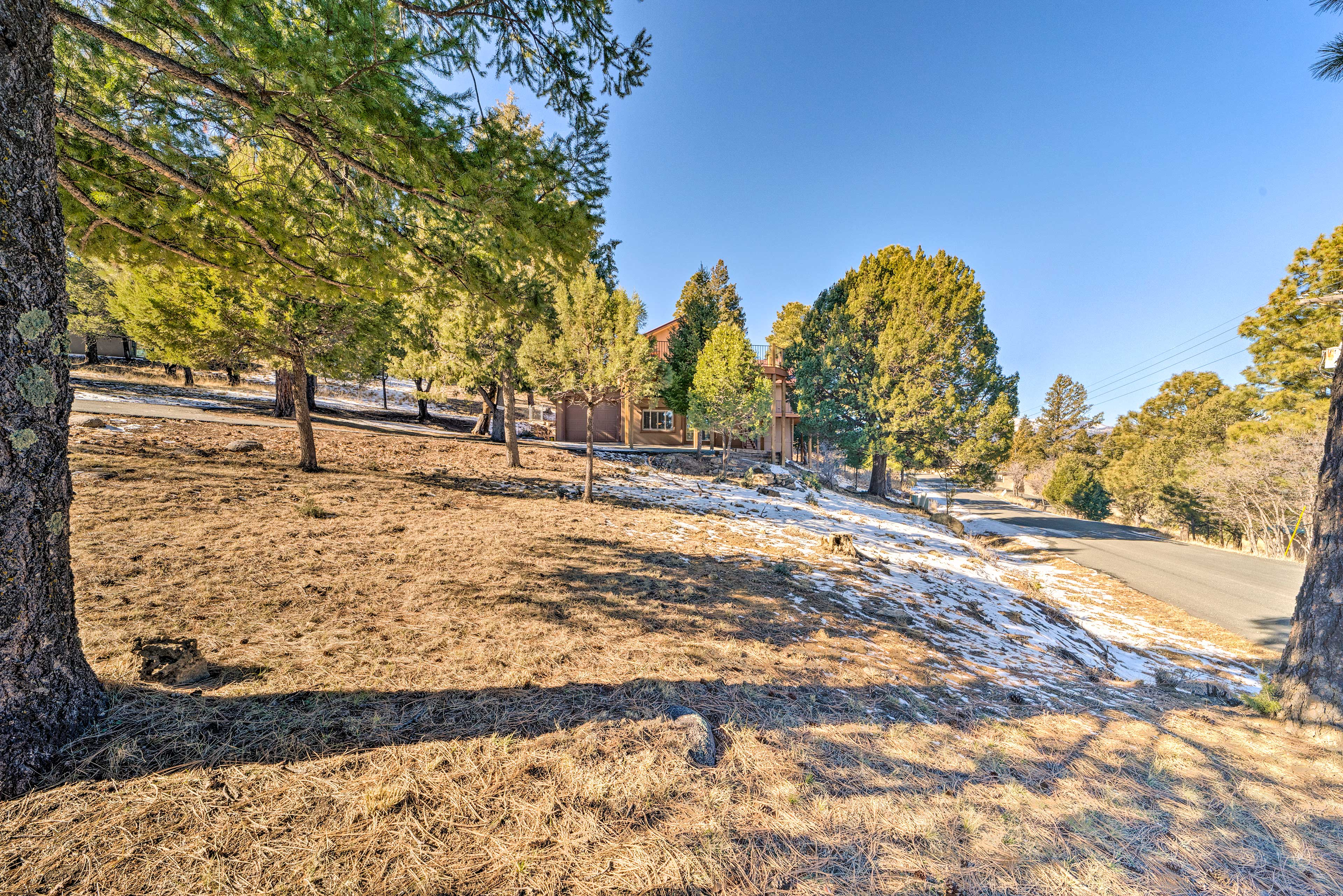 You'll love the quiet, yet convenient location of this Ruidoso vacation rental.