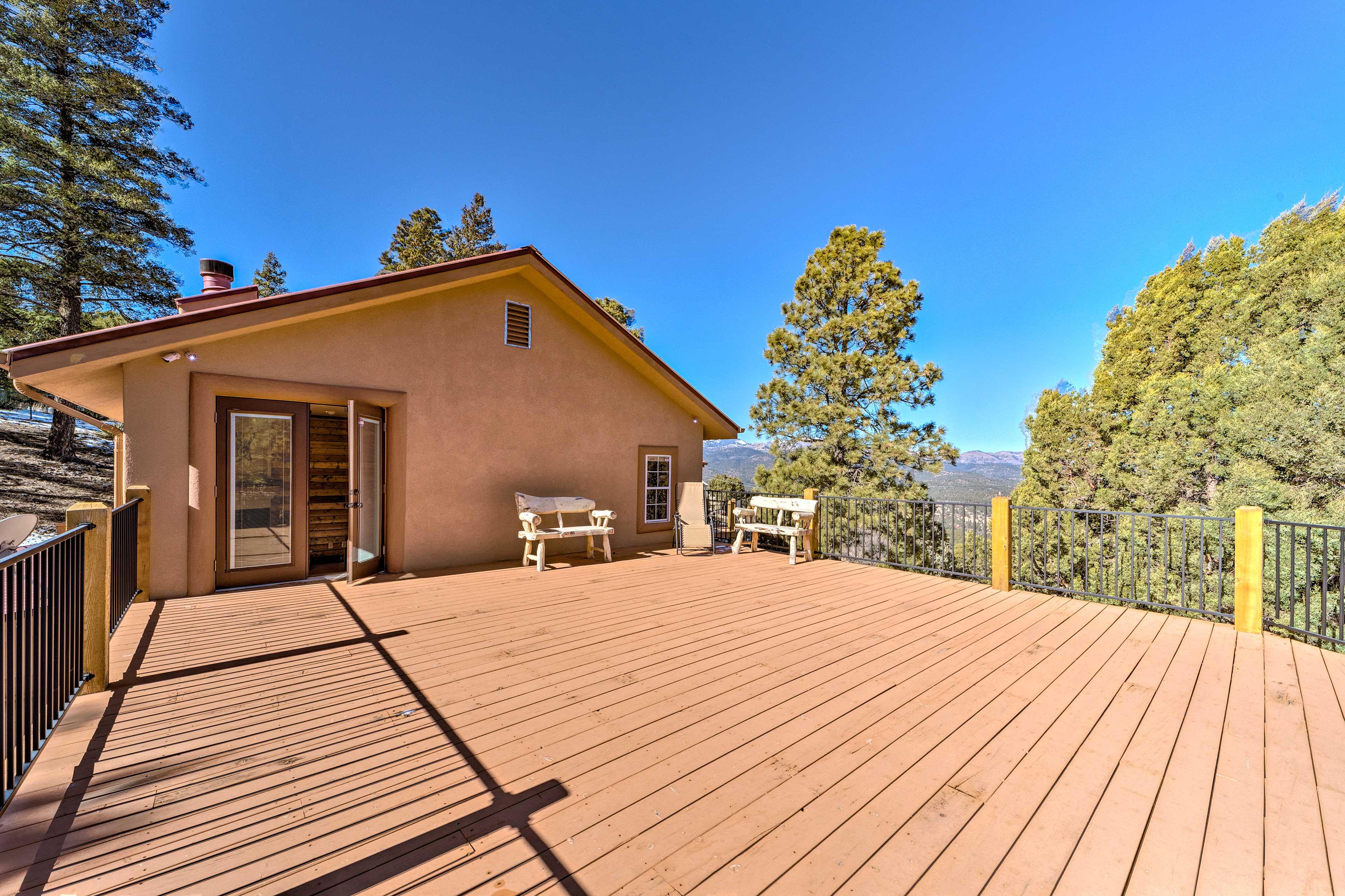 Soak up the Southwestern sun on this spacious deck.