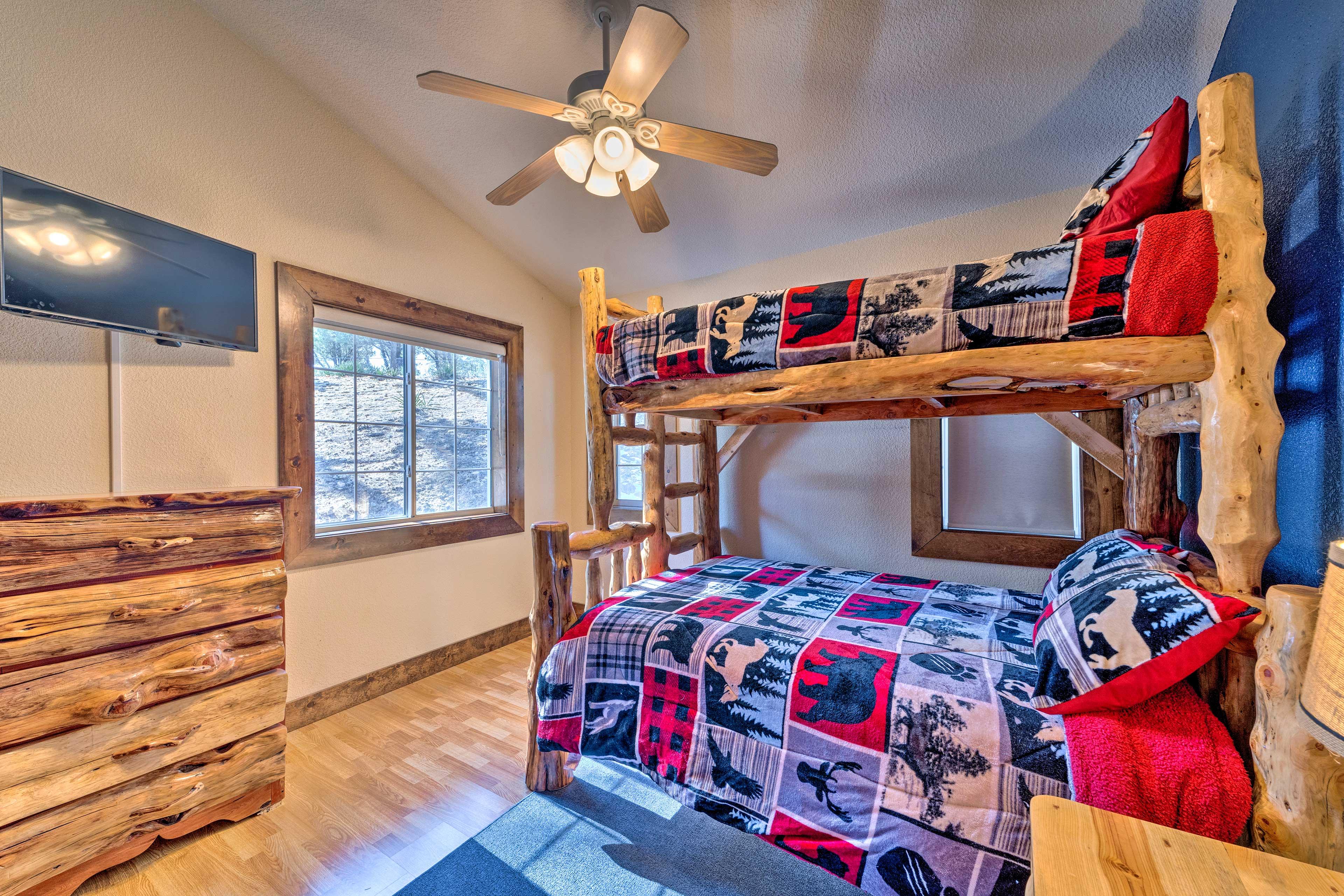 Bedroom 3 boasts a twin-over-queen bunk bed.