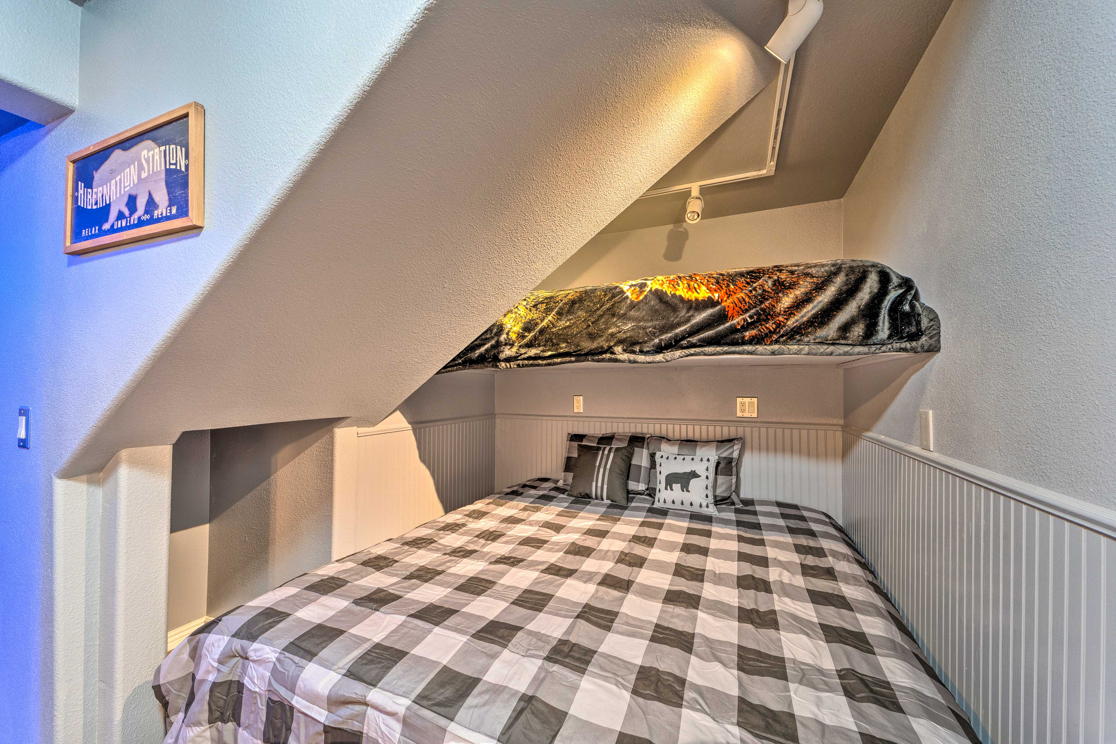 This loft is located just off the game room.