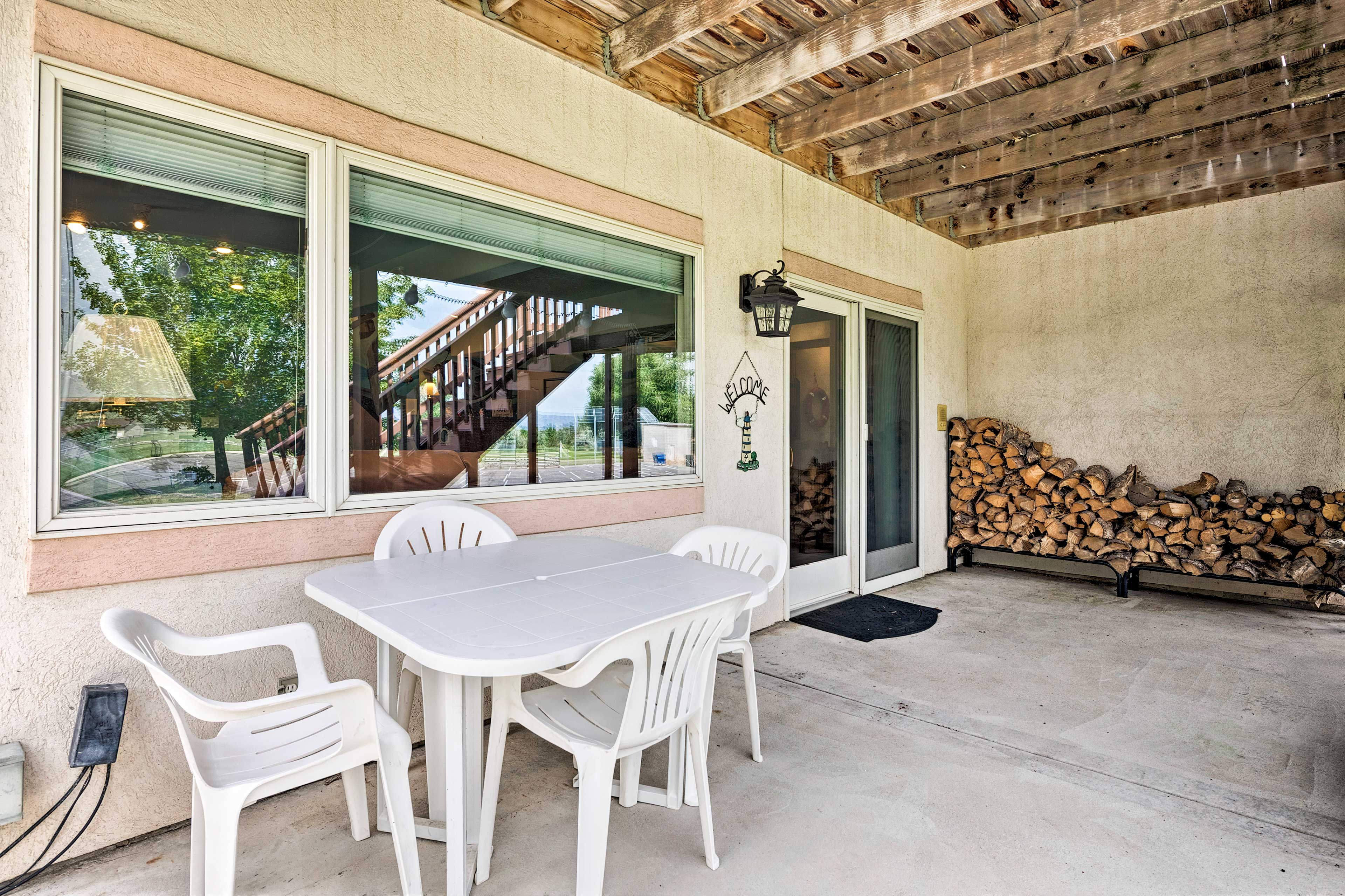 Fire up the grill for a savory afternoon barbecue at the vacation rental.