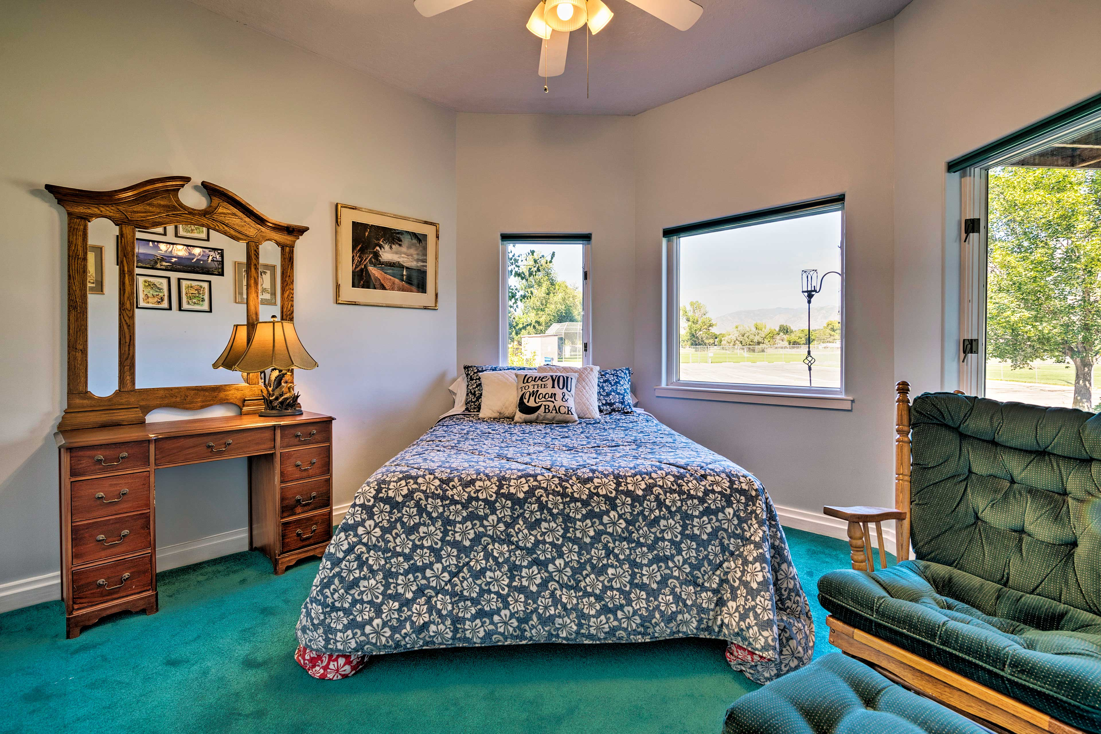 Claim the master bedroom as your own!