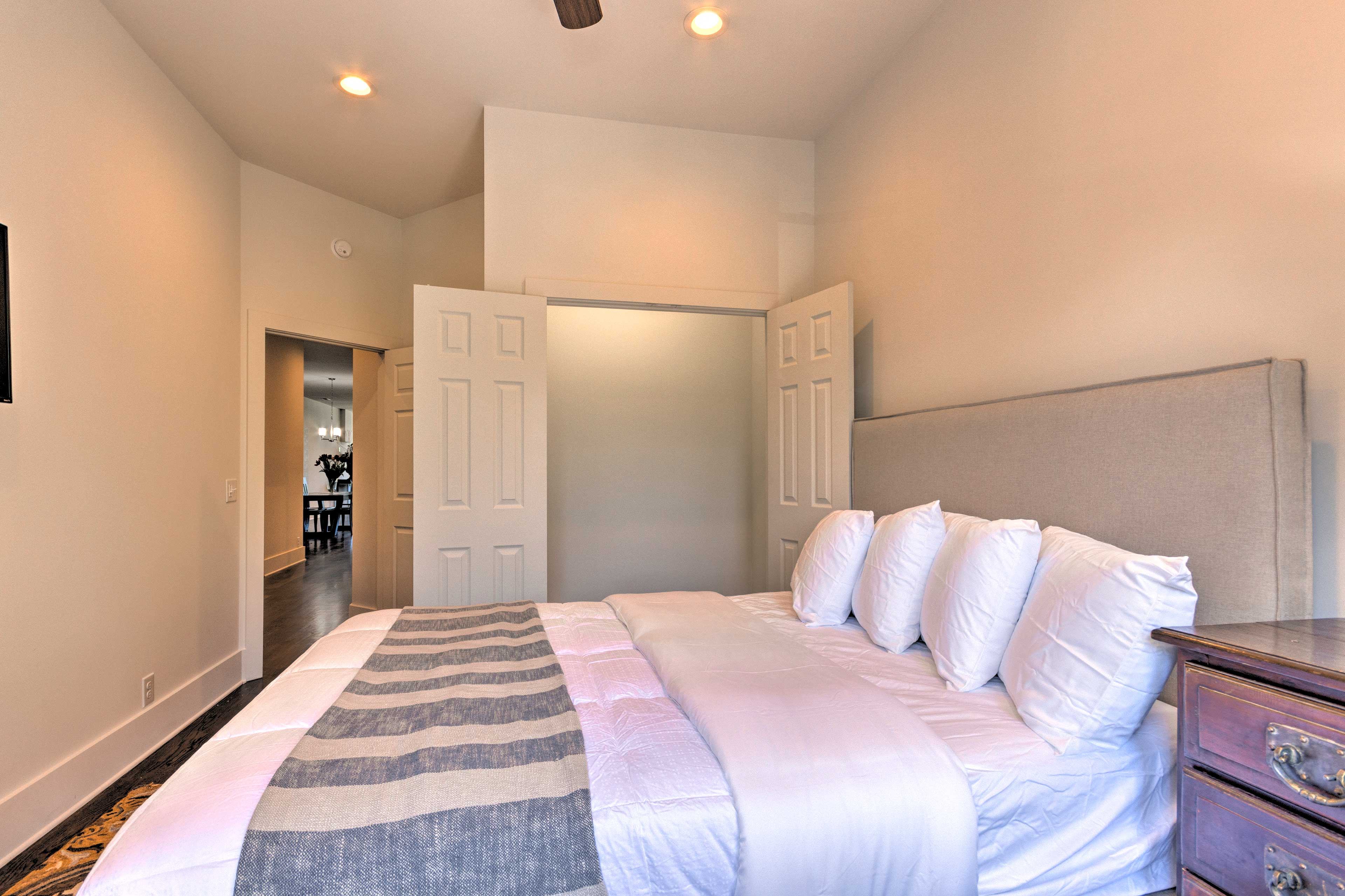Ample closet space allows you to unpack & feel at home.