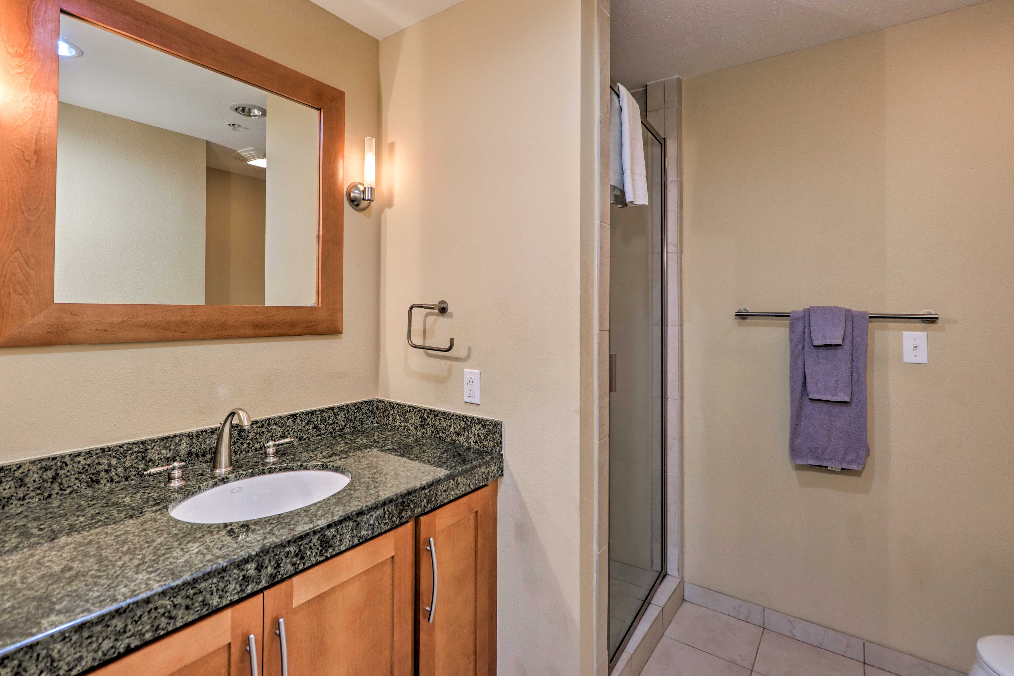 Fresh towels are provided for your stay.