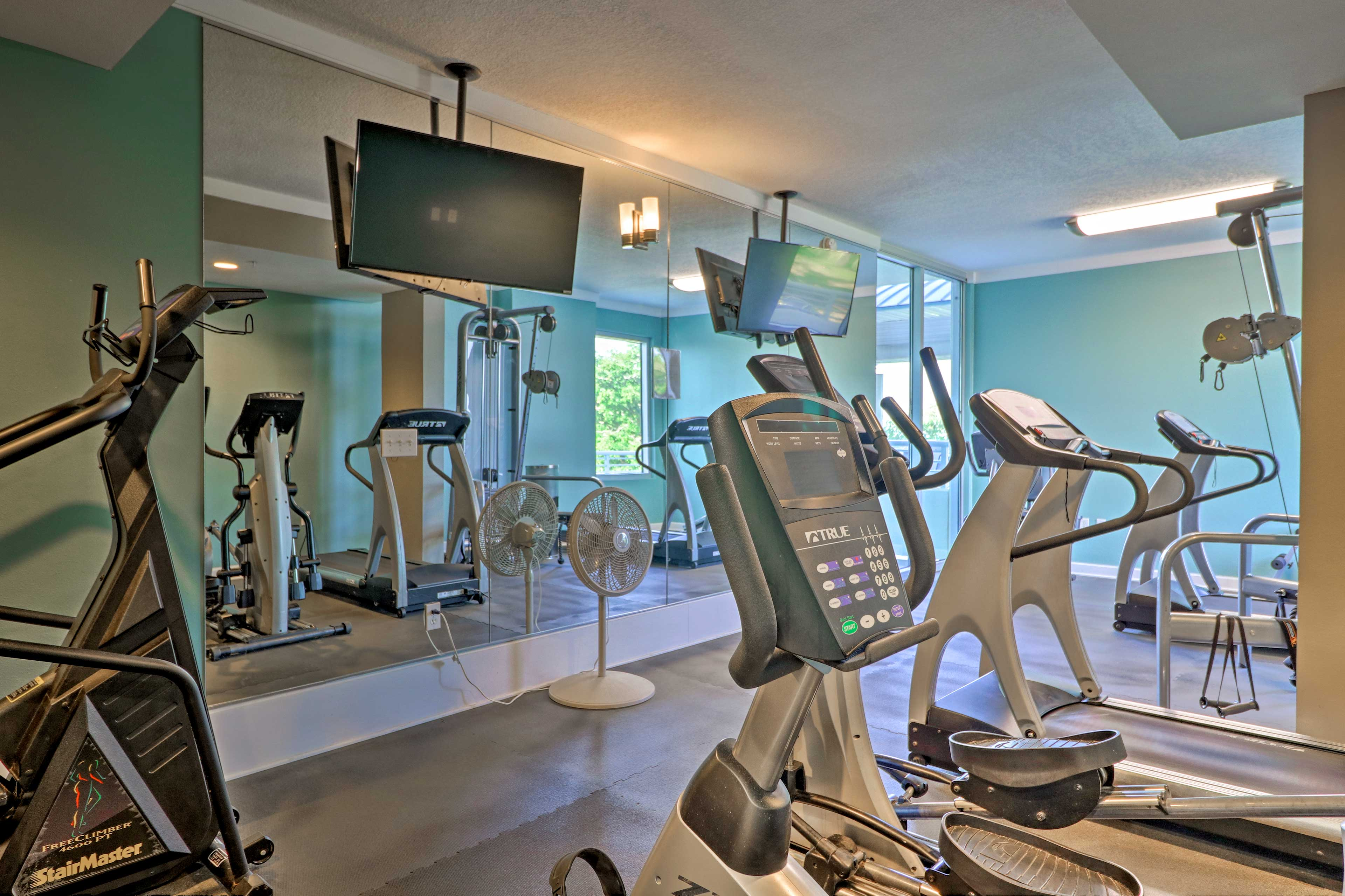 There's no need to skip your workout routine while you're away!