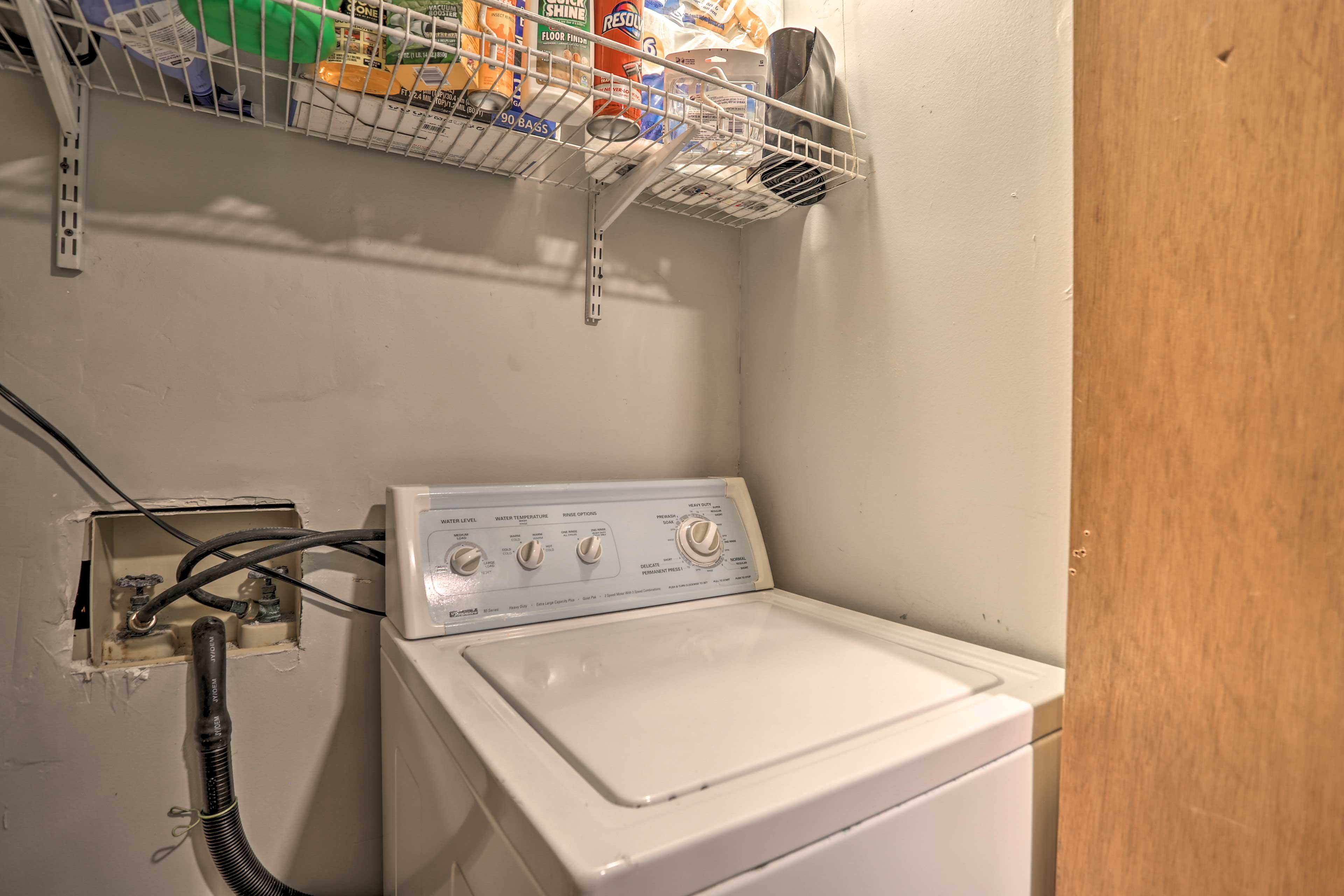 Keep everyone's lake gear clean in the washer/dryer.