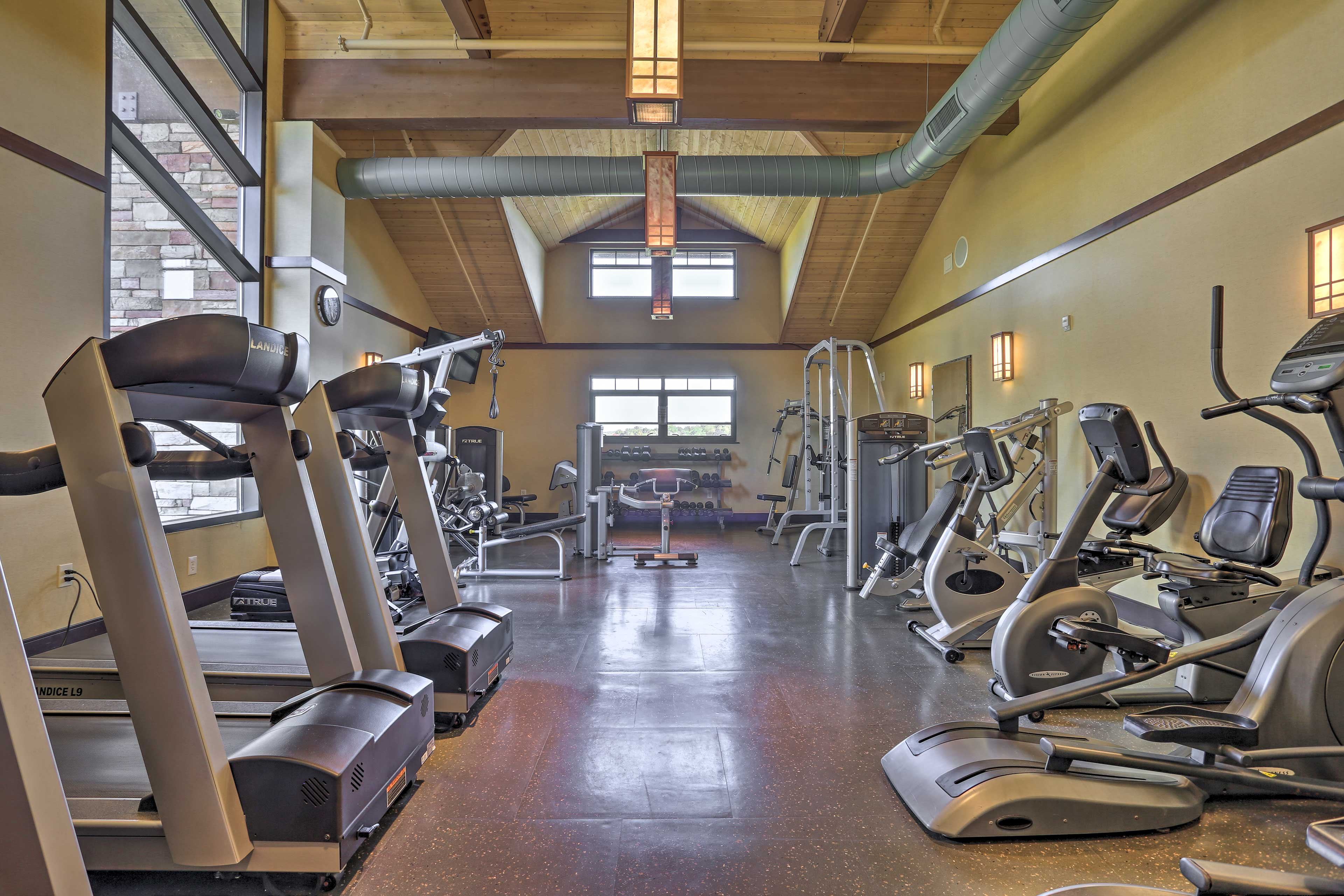 Work up a sweat in the fitness center!
