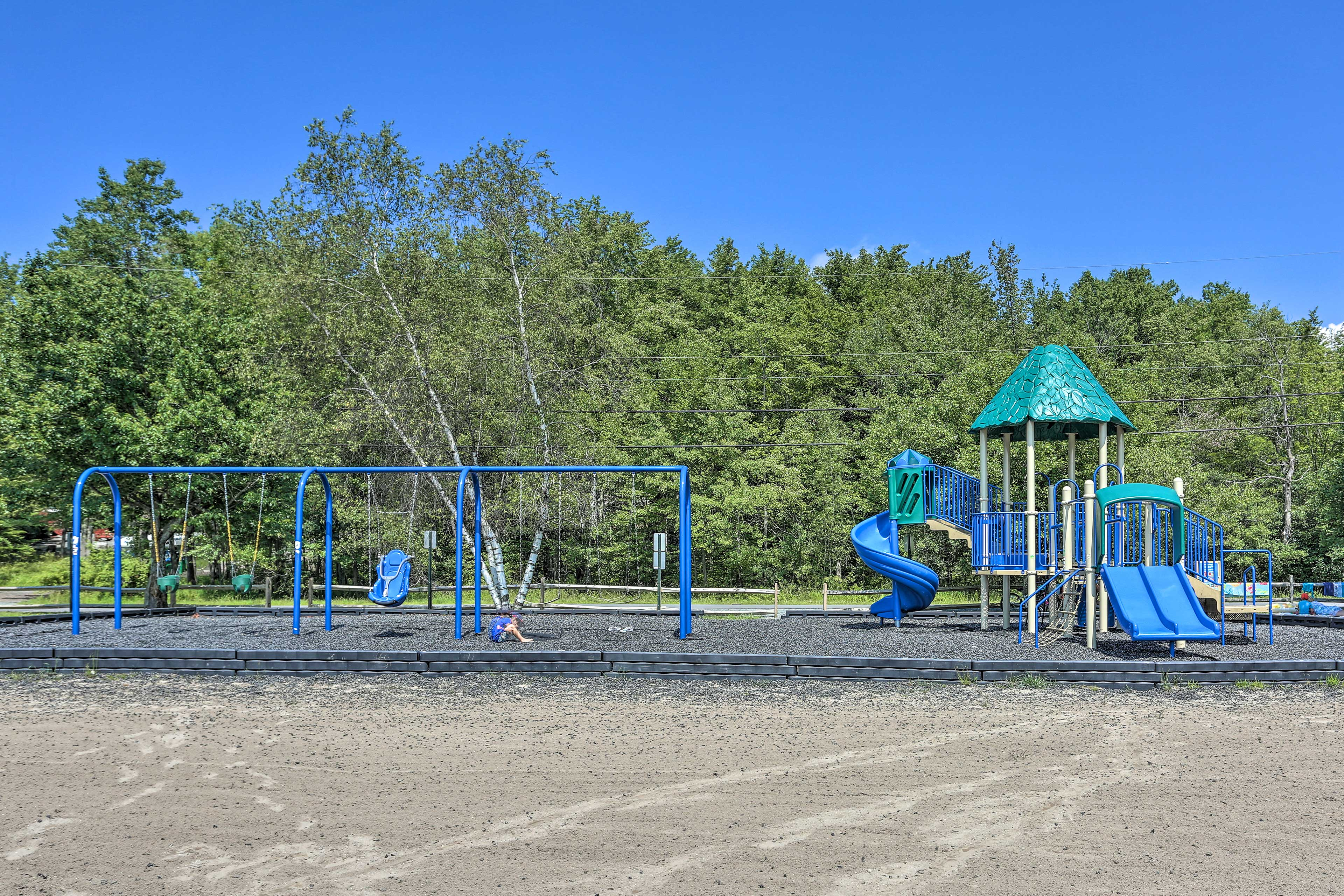 Take kids to one of the many playgrounds and park areas.