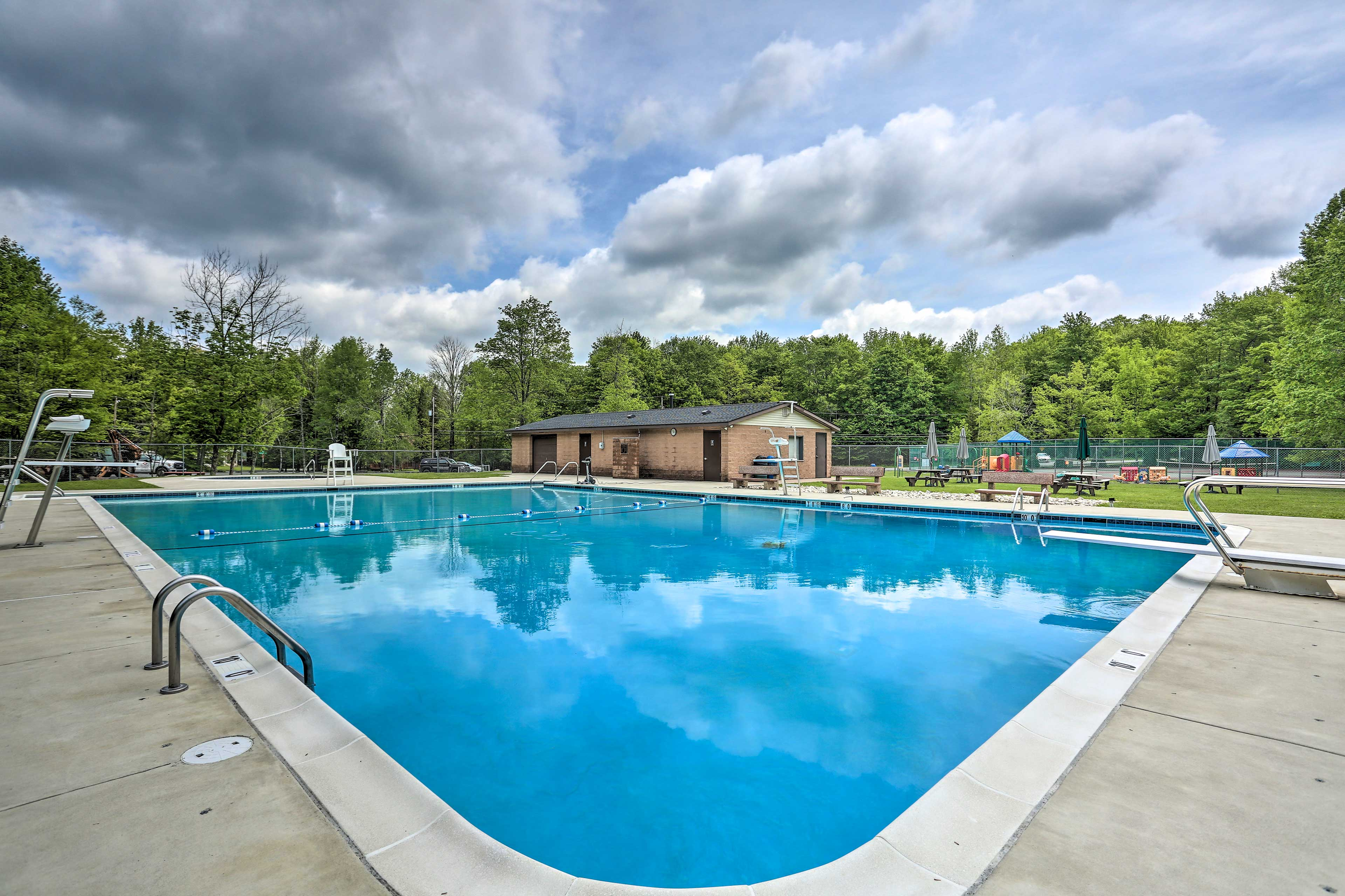 Make a splash at the outdoor swimming pool!