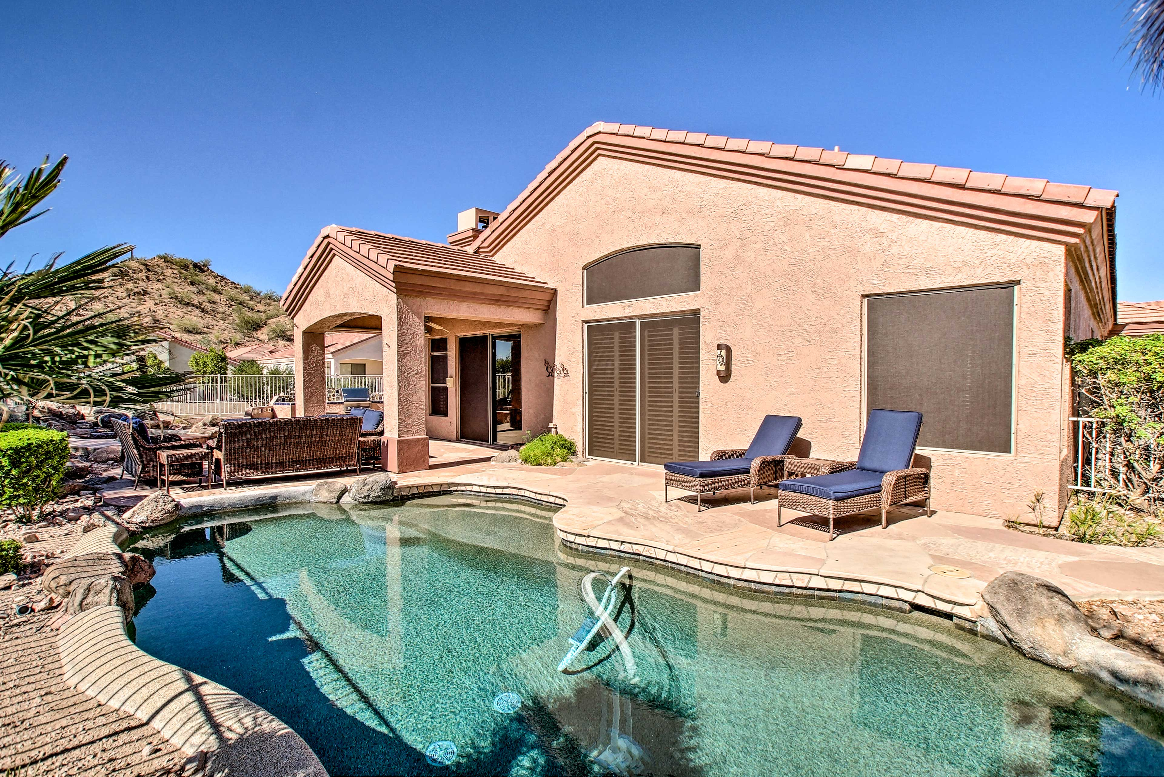 Run from the cold winter chills to this personal desert paradise!