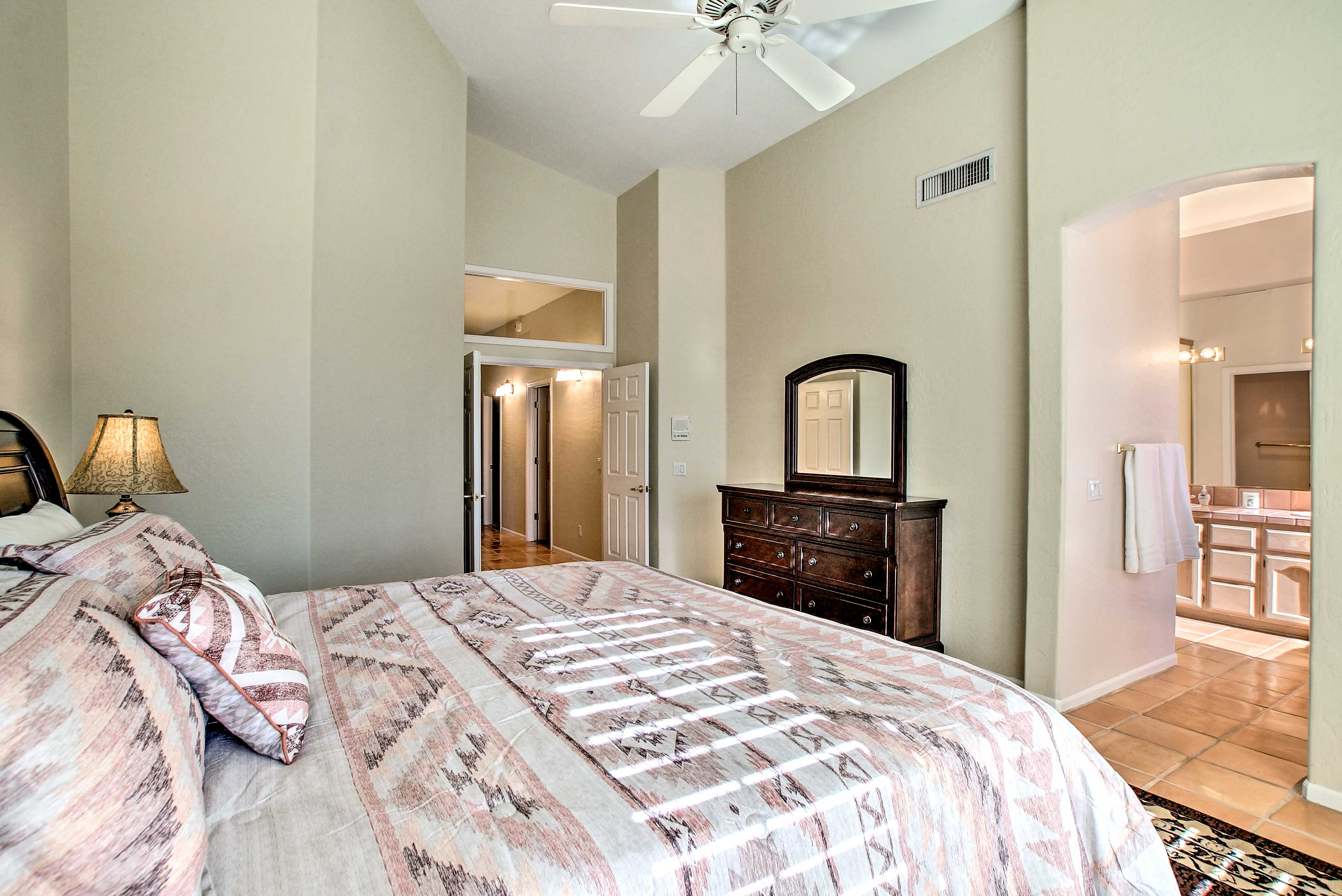 The room offers a private en-suite master bathroom.