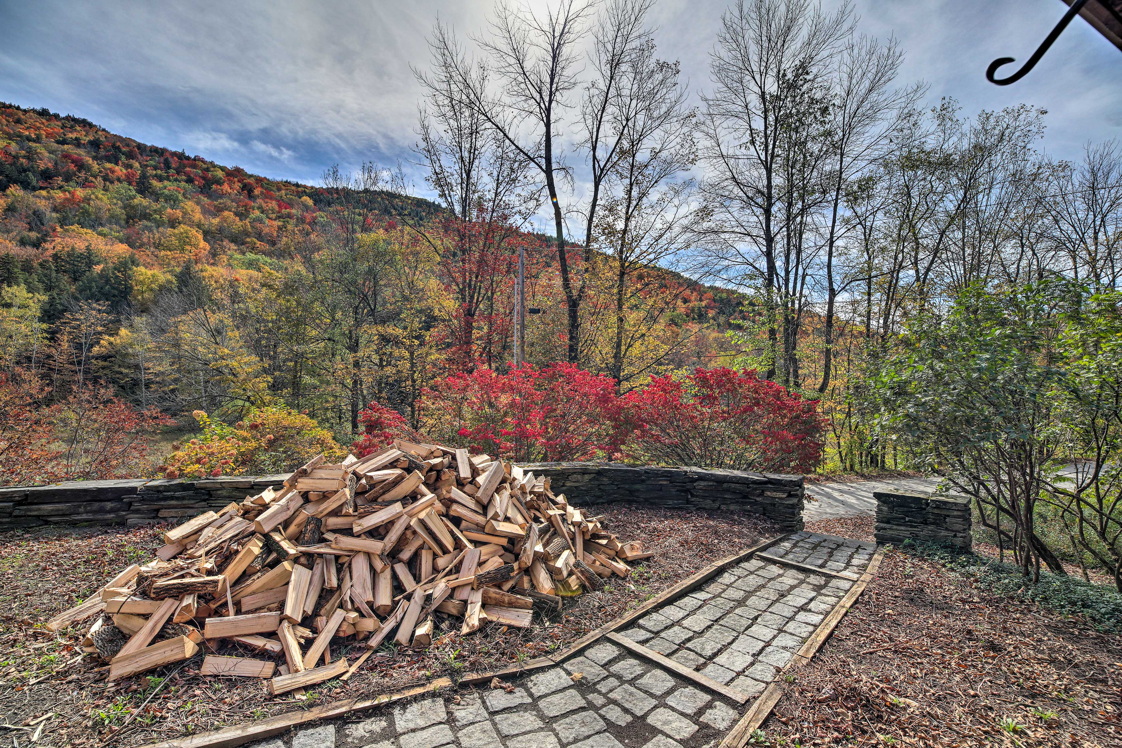 This property boasts incredible views of the hills alive with color in Autumn!