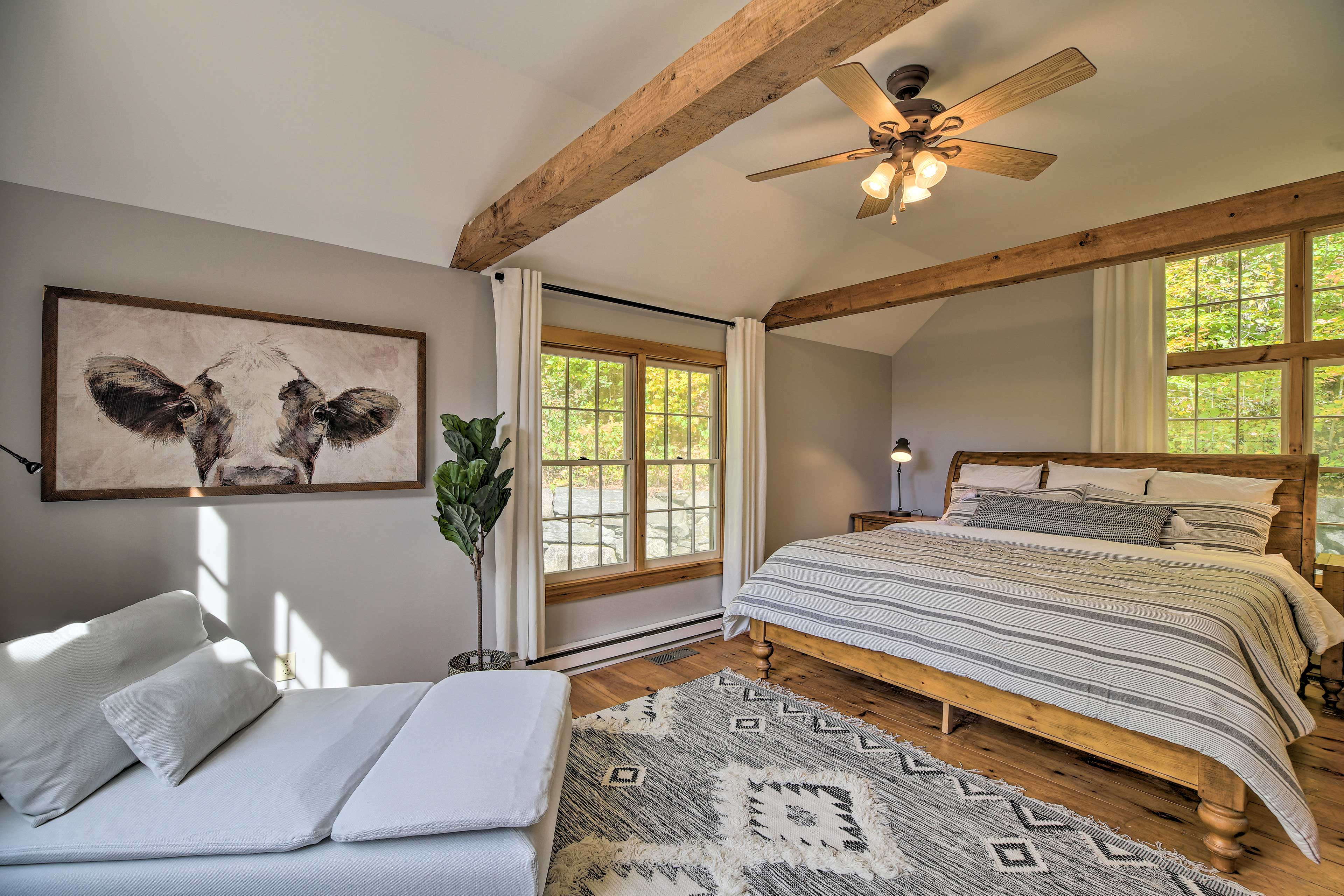 The master bedroom is sure to impress.