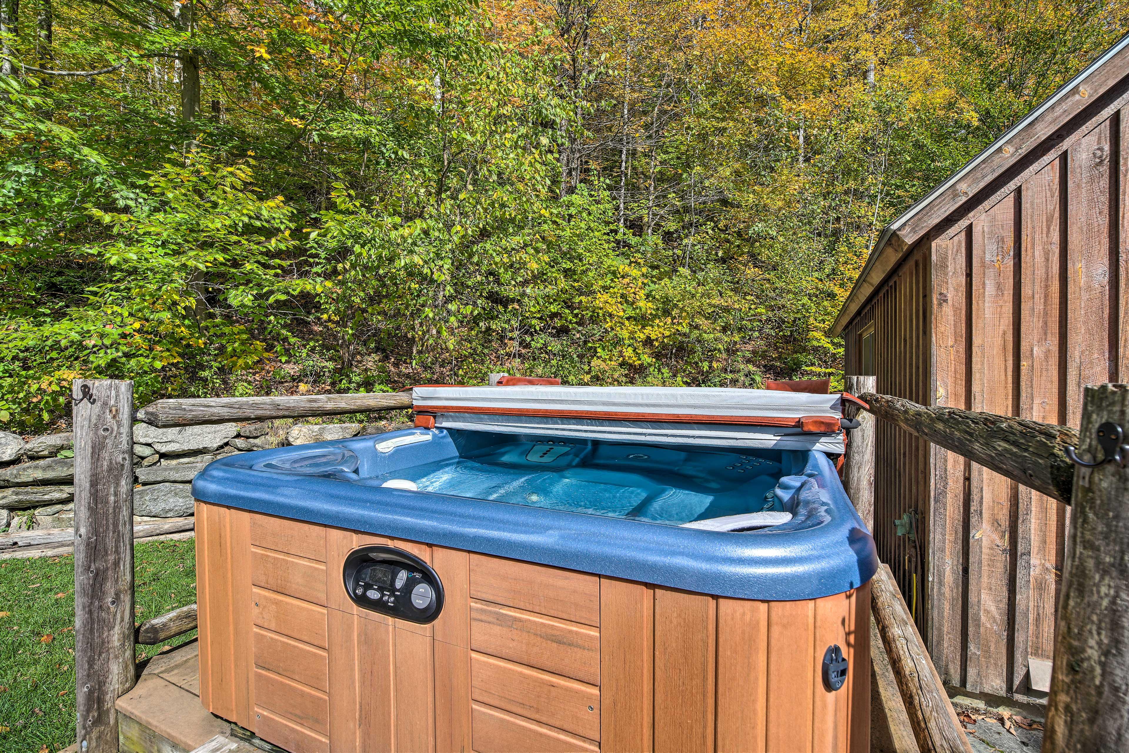 A dip in the hot tub is a must after a day at Killington Ski Resort.