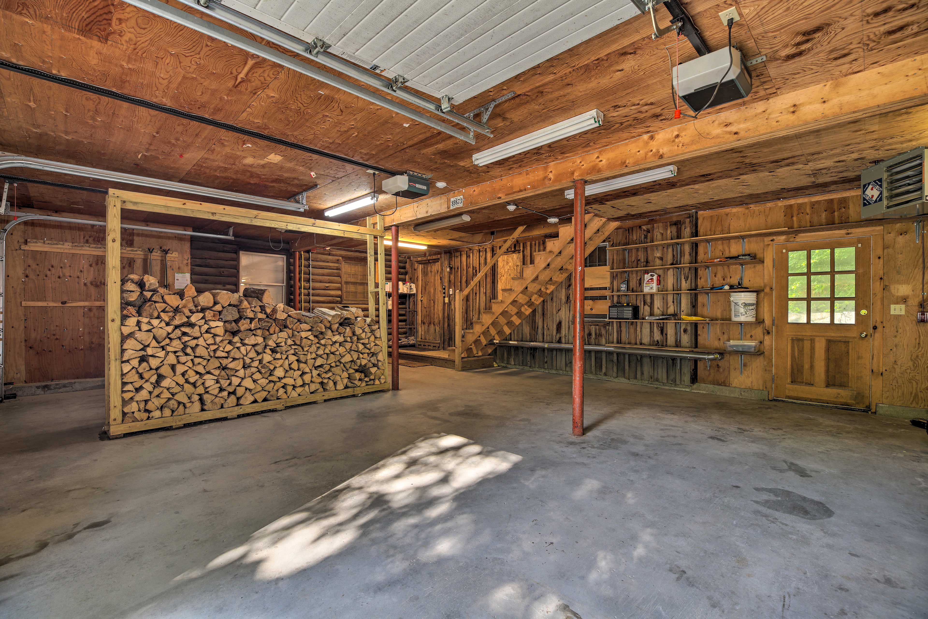 Plenty of firewood is provided for your stay.