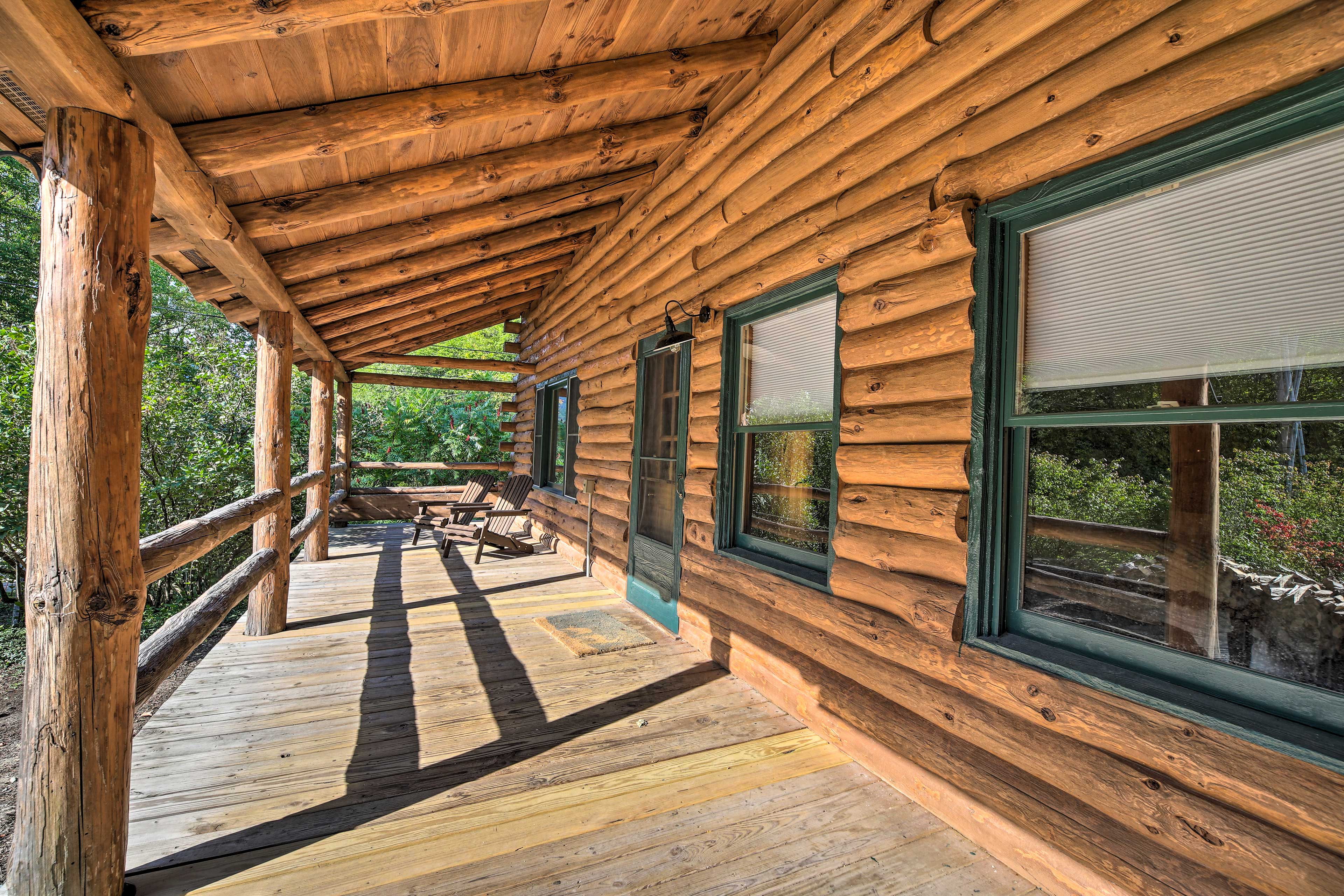Get some fresh air out o the covered porch.