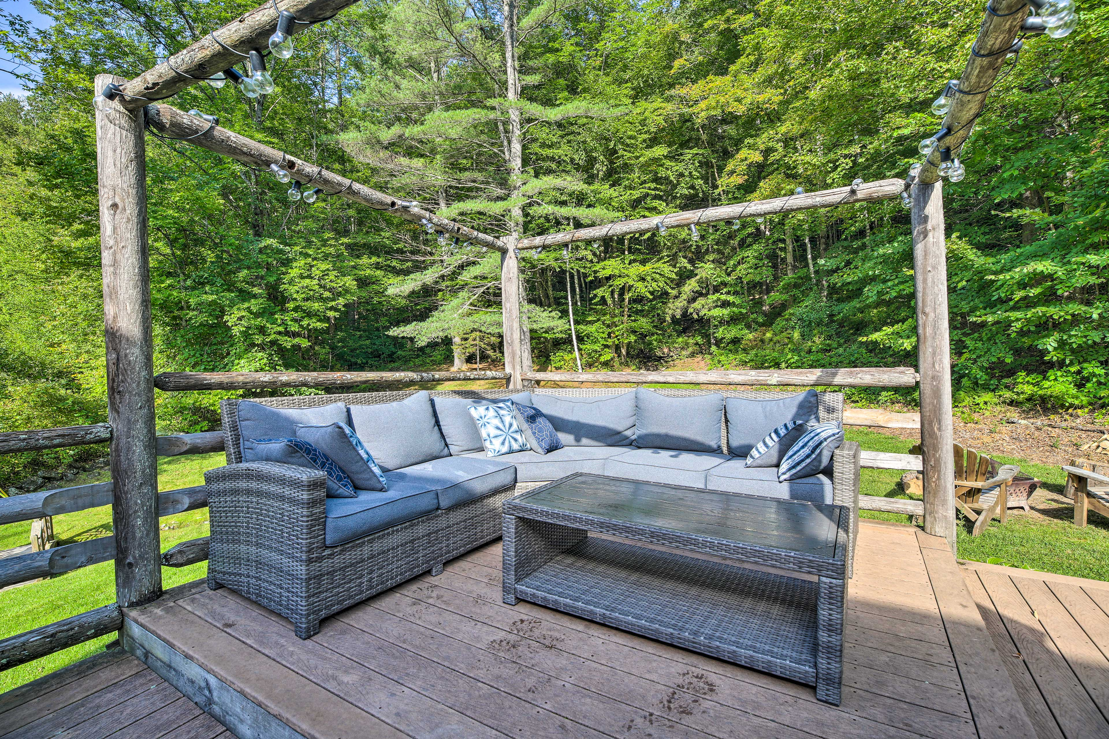 The new outdoor furniture offers plenty of seating space.