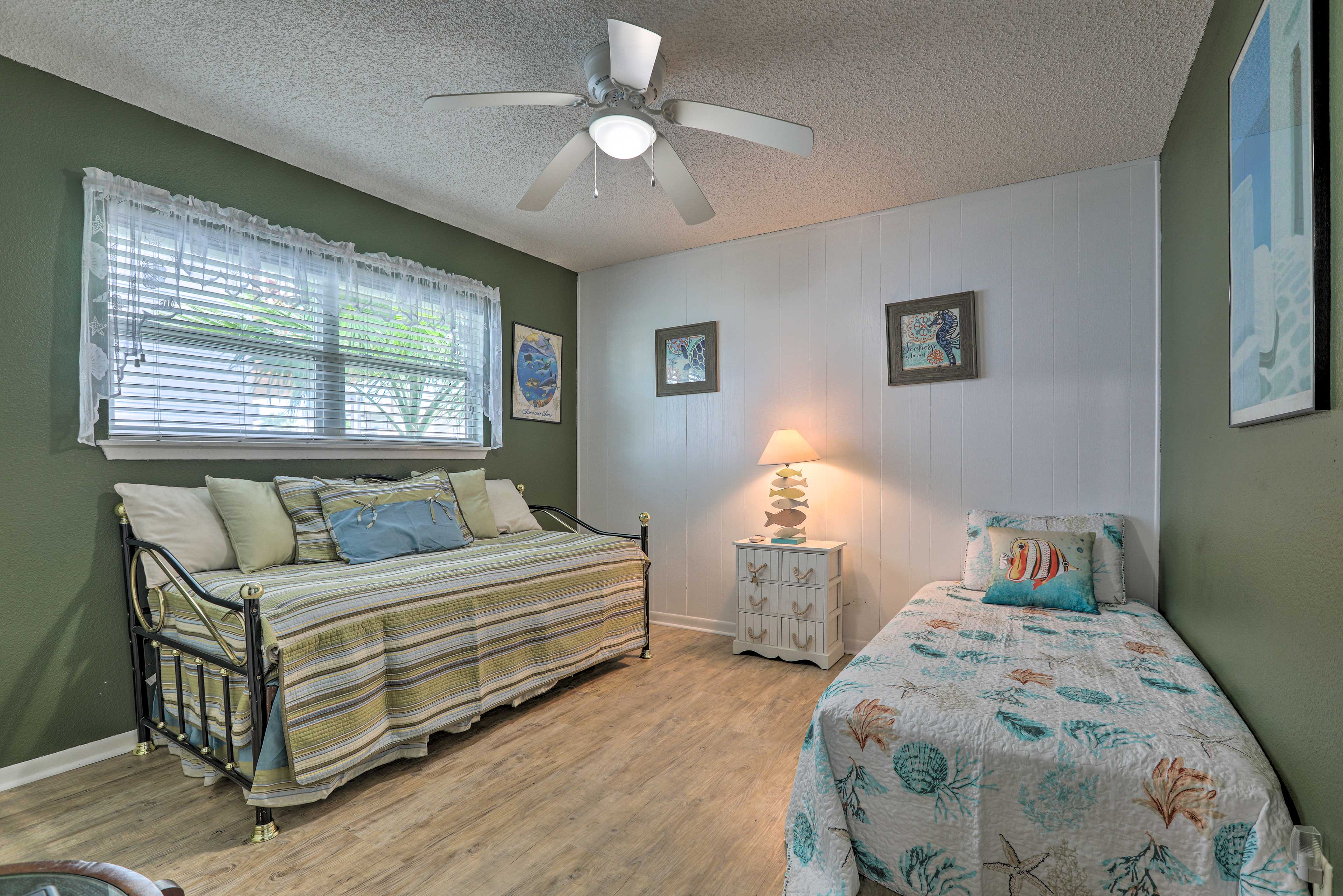 This room offers a twin bed and a twin trundle bed - the perfect kids room!