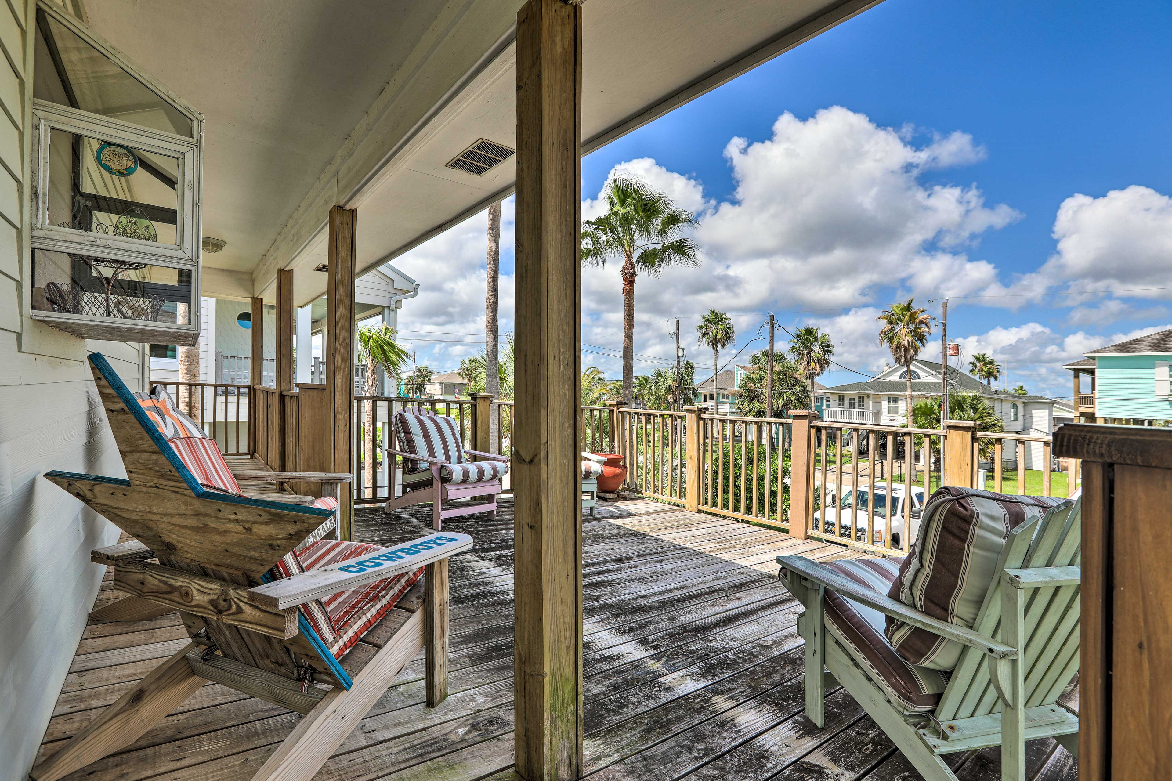 This Galveston vacation rental features 2 private decks!