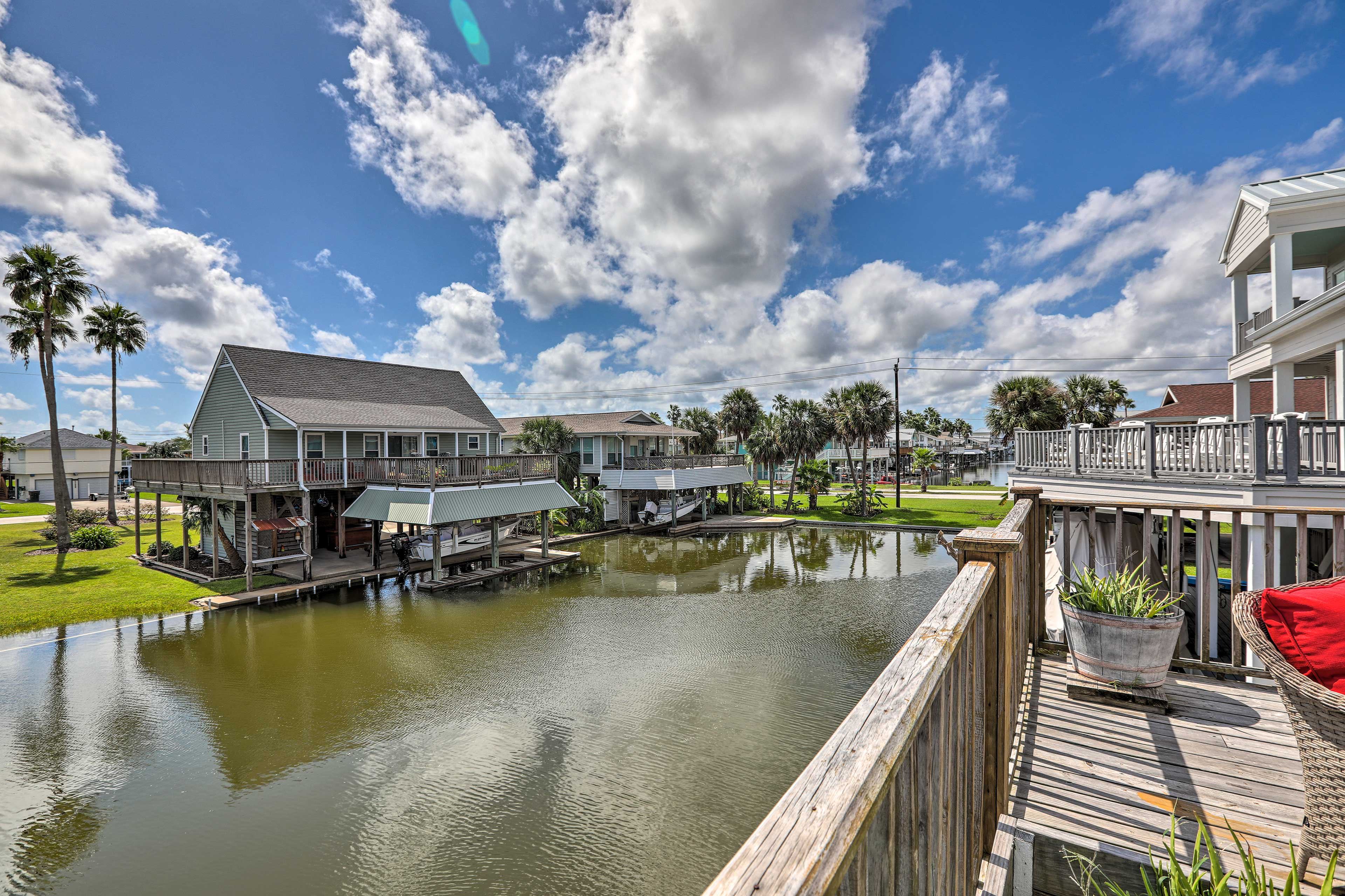 Enjoy serene views of the canal as your backyard!