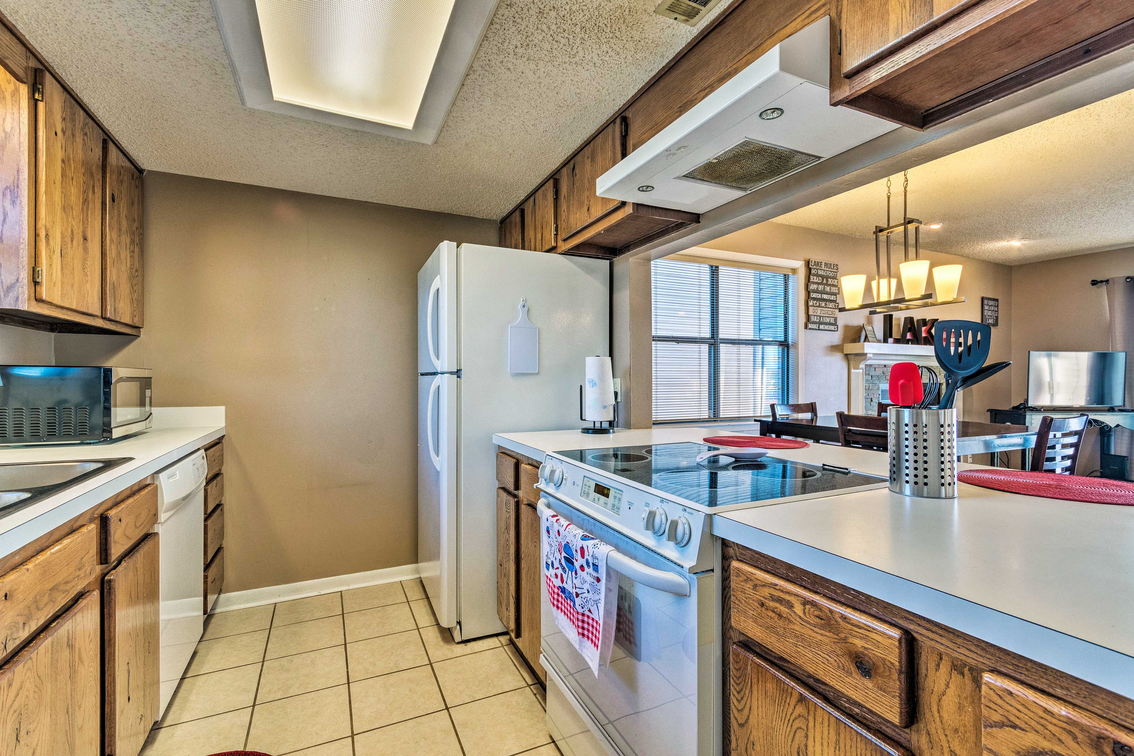 The fully equipped kitchen will make you feel like an Iron Chef.